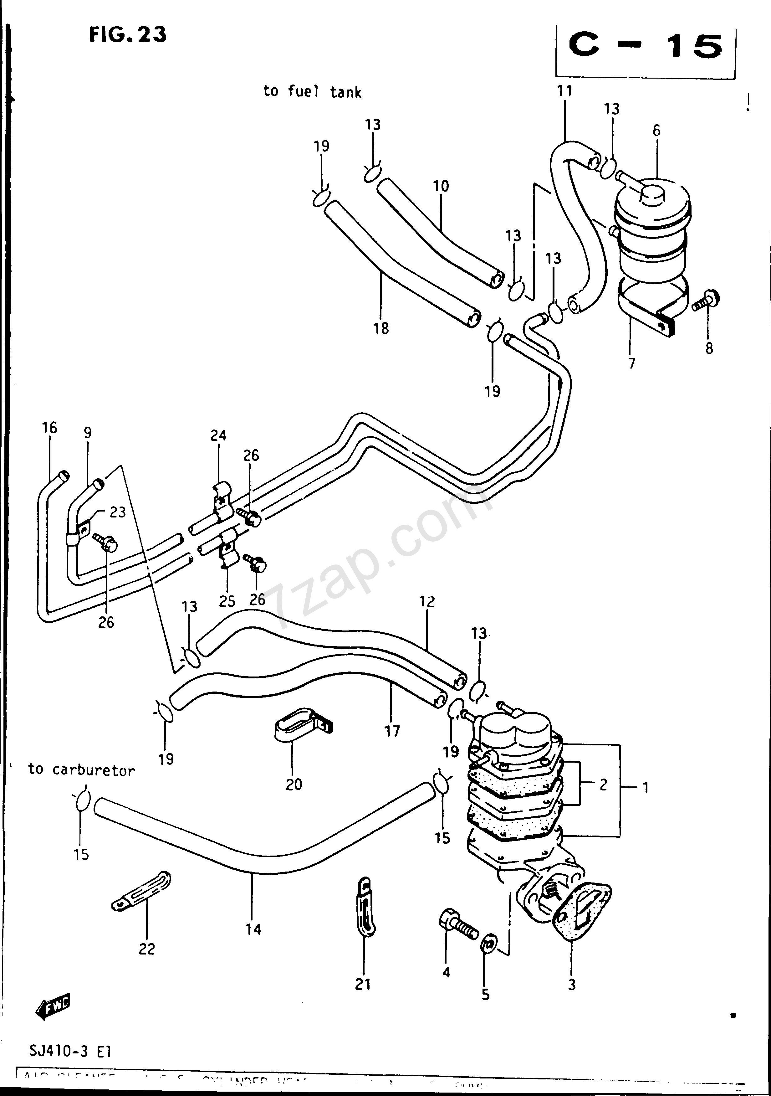 car fuel system diagram