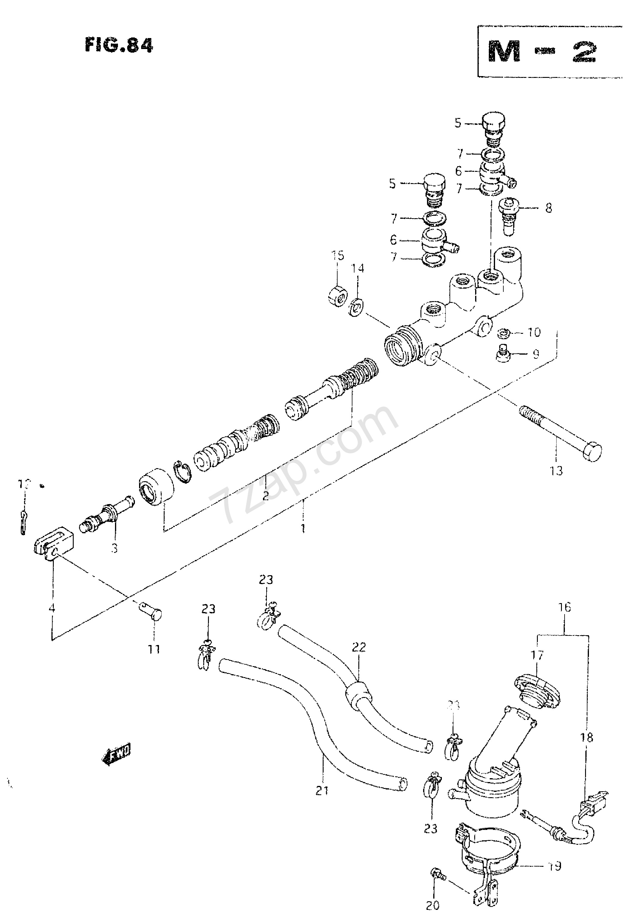 Chevy Master Cylinder Diagram Master Cylinder Exploded
