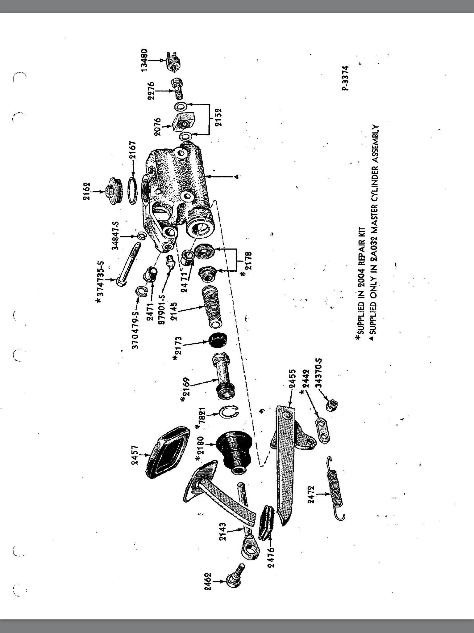 Chevy Master Cylinder Diagram Master Cylinder Exploded View Of Chevy Master Cylinder Diagram