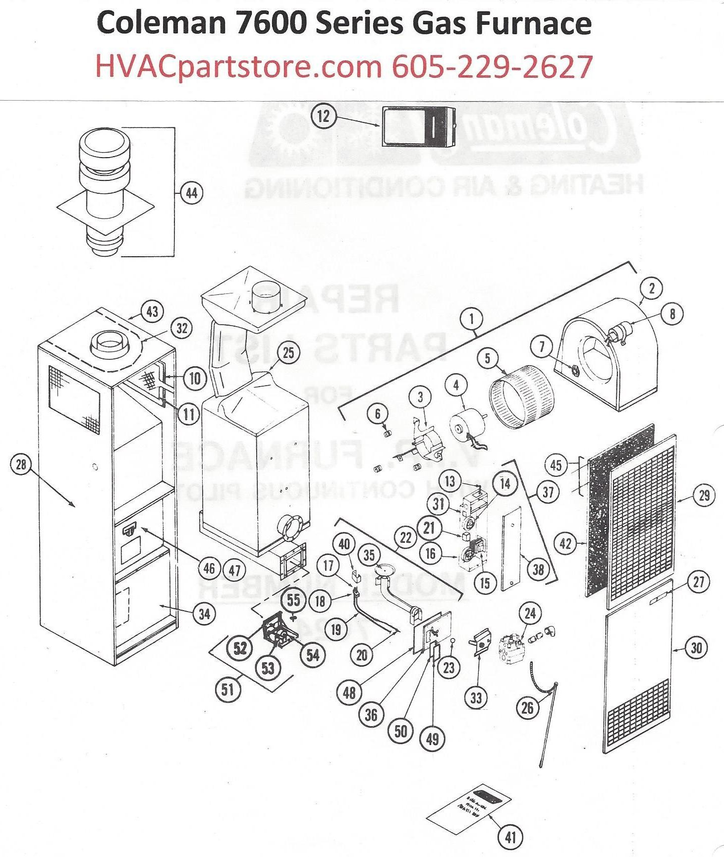 Coleman Stove Parts Diagram 7624 836 Coleman Gas Furnace Parts – Page 2 – Hvacpartstore Of Coleman Stove Parts Diagram