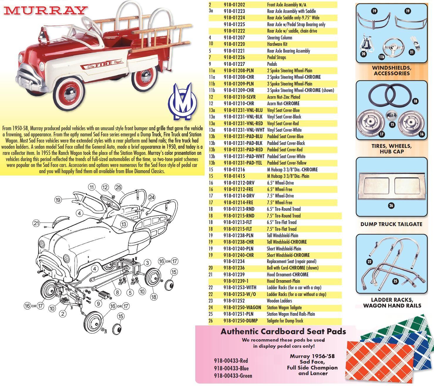 Fire Truck Parts Diagram Pedal Car Parts Murray Acorn Nut Of Fire Truck Parts Diagram