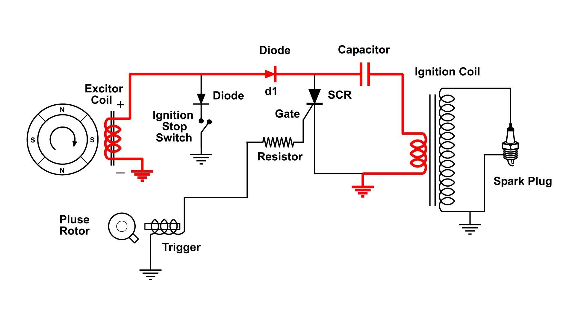 Honda Gx160 Parts Diagram Cdi Capacitor Discharge Ignition Circuit Demo Of Honda Gx160 Parts Diagram
