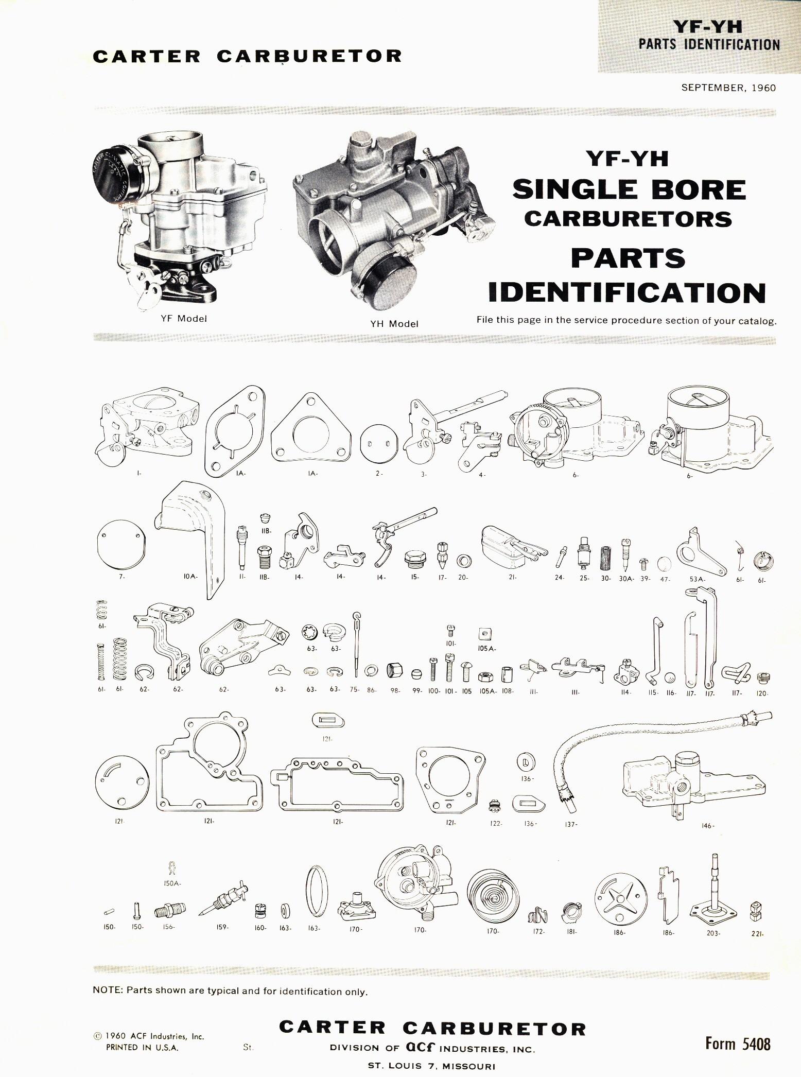 Honda Small Engine Carburetor Diagram Carter Y Yf Yfa Yh Ys the Carburetor Doctor Of Honda Small Engine Carburetor Diagram