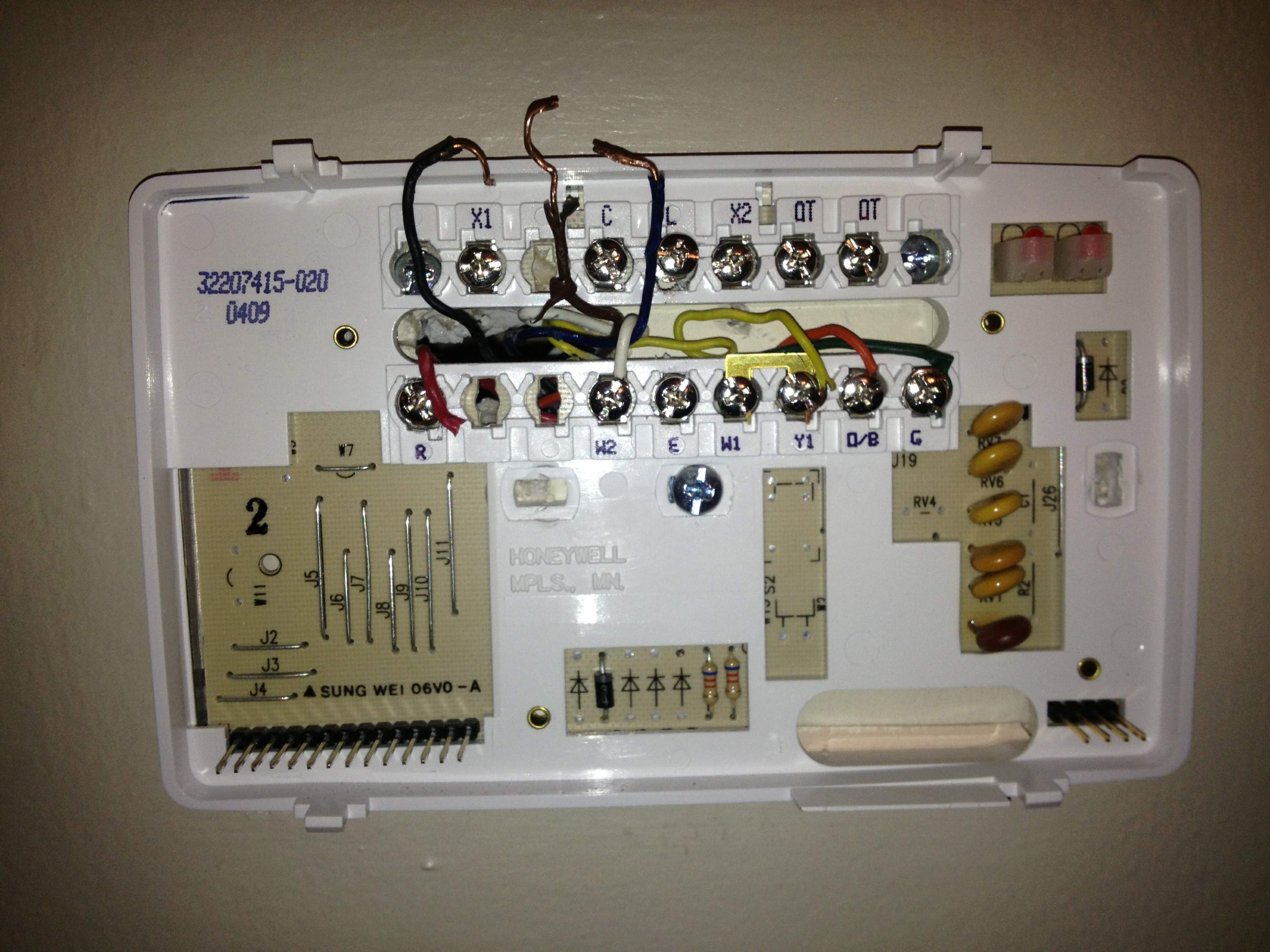 Honeywell Heat Pump thermostat Wiring Diagram Honeywell Heat Pump thermostat Wiring Diagram Reference Honeywell Of Honeywell Heat Pump thermostat Wiring Diagram