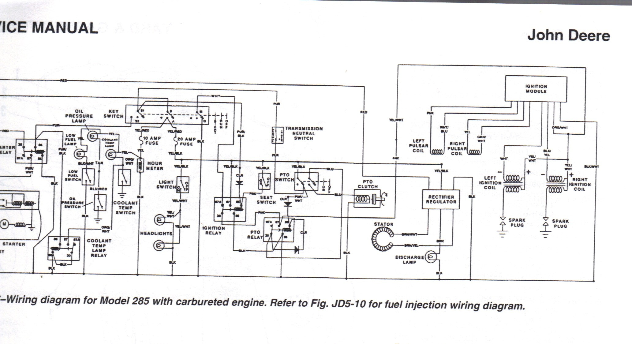 Lt155 Wiring Harness : John deere wiring diagram my