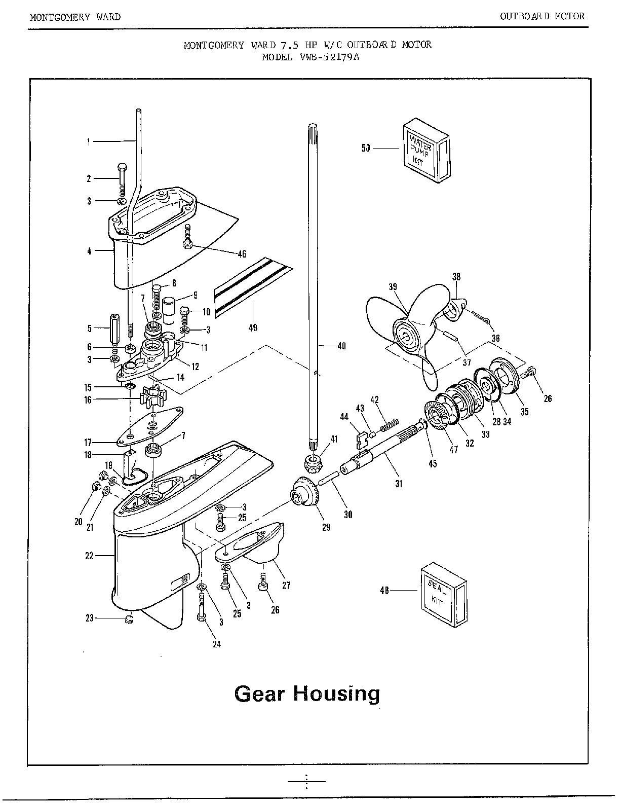 Mercury Outboard Engine Diagram Mercury Outboard 40 Hp 2 ... on