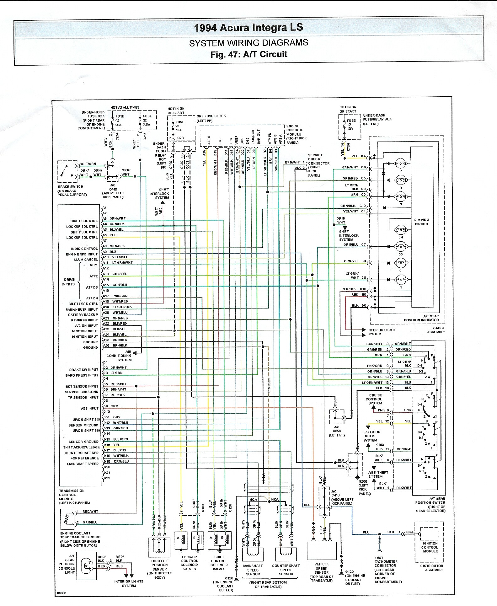 Honda Vtec Obd1 Wiring Diagram Trusted Engine Harness Civic Alternator 92 95 Integra