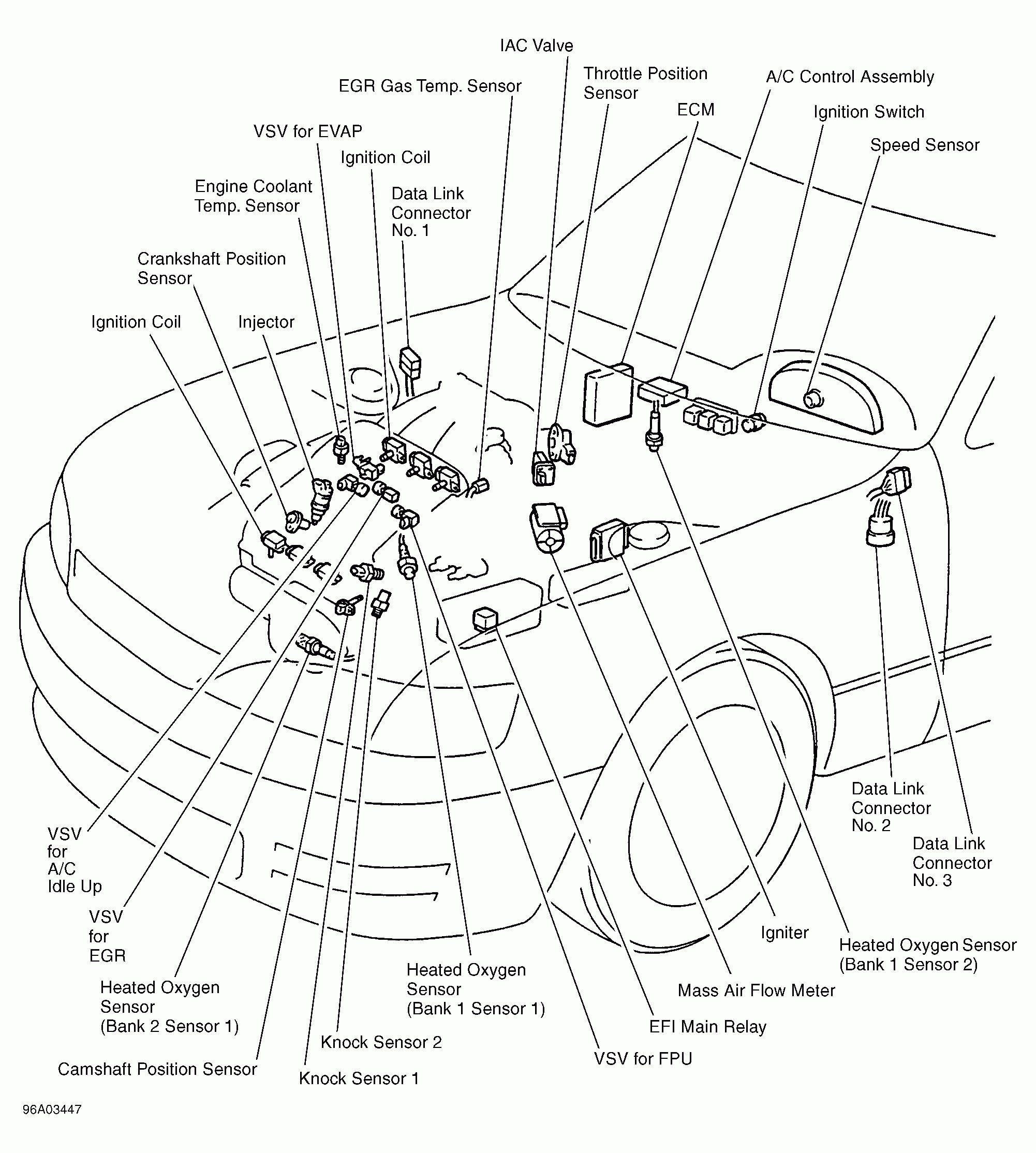 toyota v6 3 0 efi engine diagram