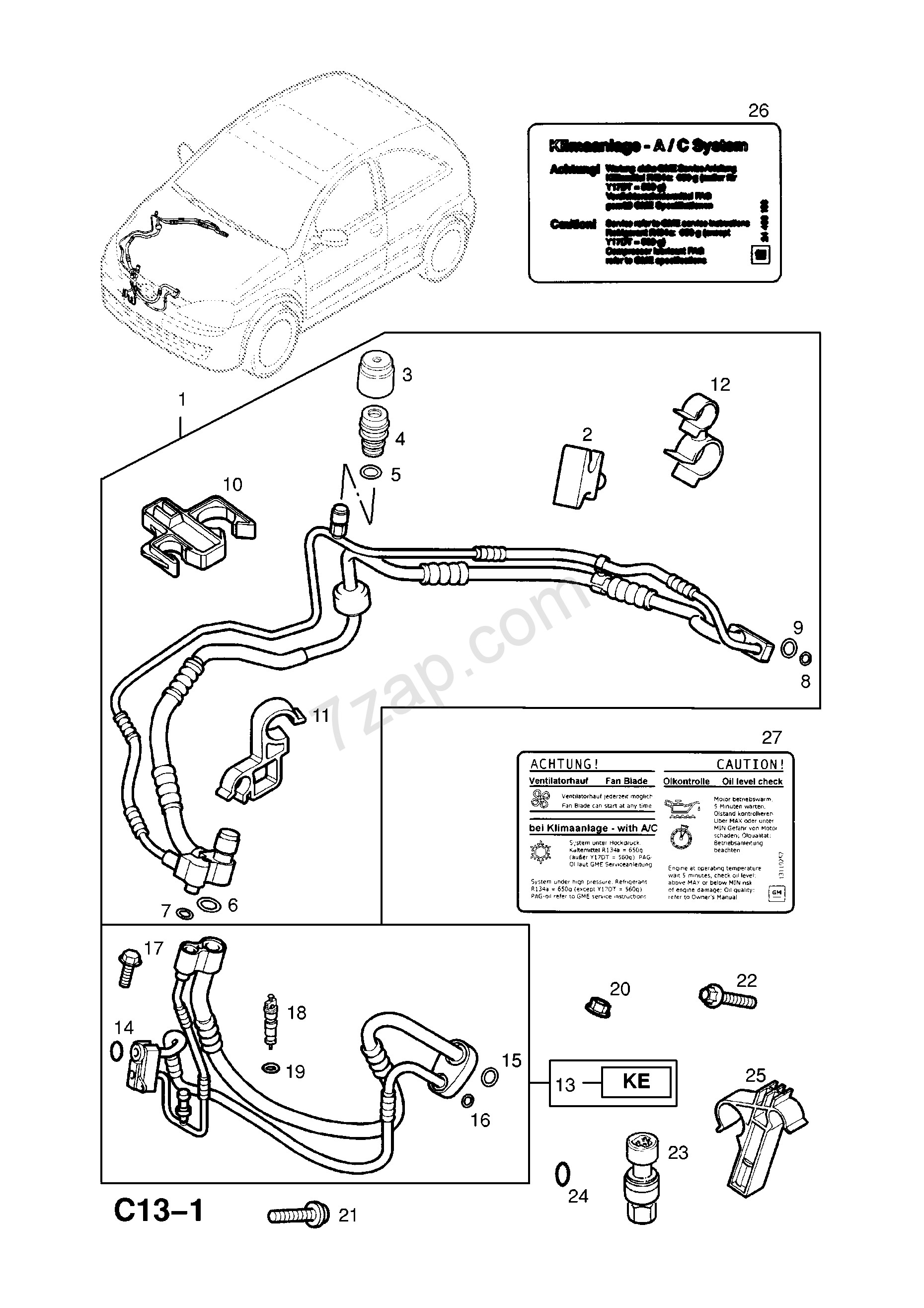 Vauxhall Corsa Engine Diagram Refrigerant Hose and Liquid Pipes Contd [z16se[l55] Petrol Engine Of Vauxhall Corsa Engine Diagram