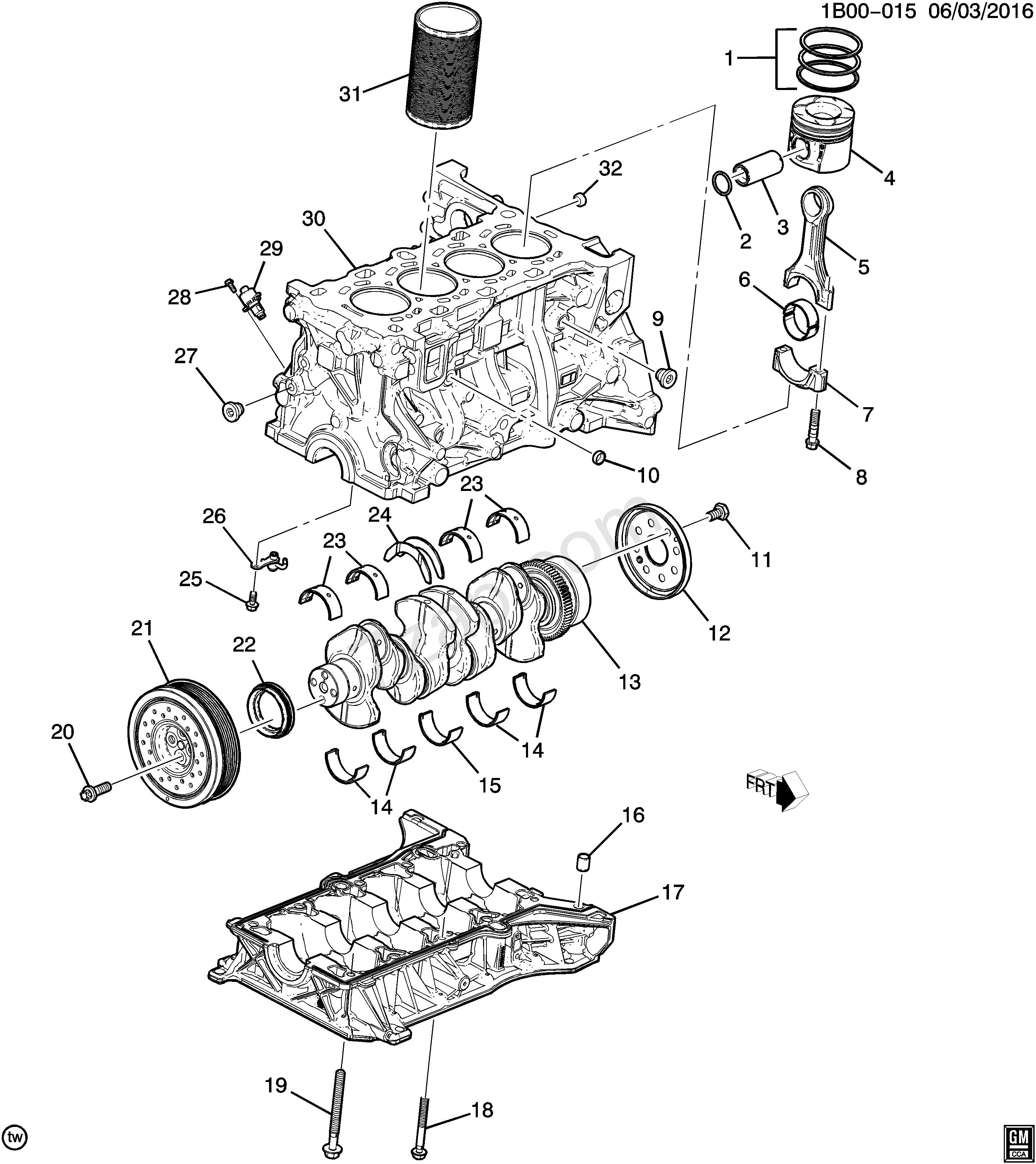 1 Cylinder Engine Diagram 2017 2017 Bt69 Engine asm Diesel Part 1 Cylinder Block & Related Of 1 Cylinder Engine Diagram