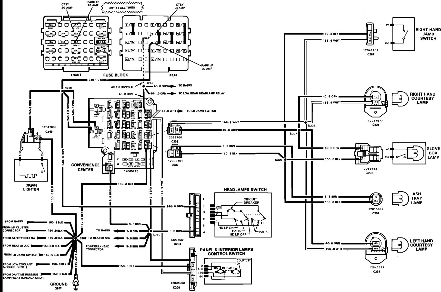 1988 chevy truck wiring diagram