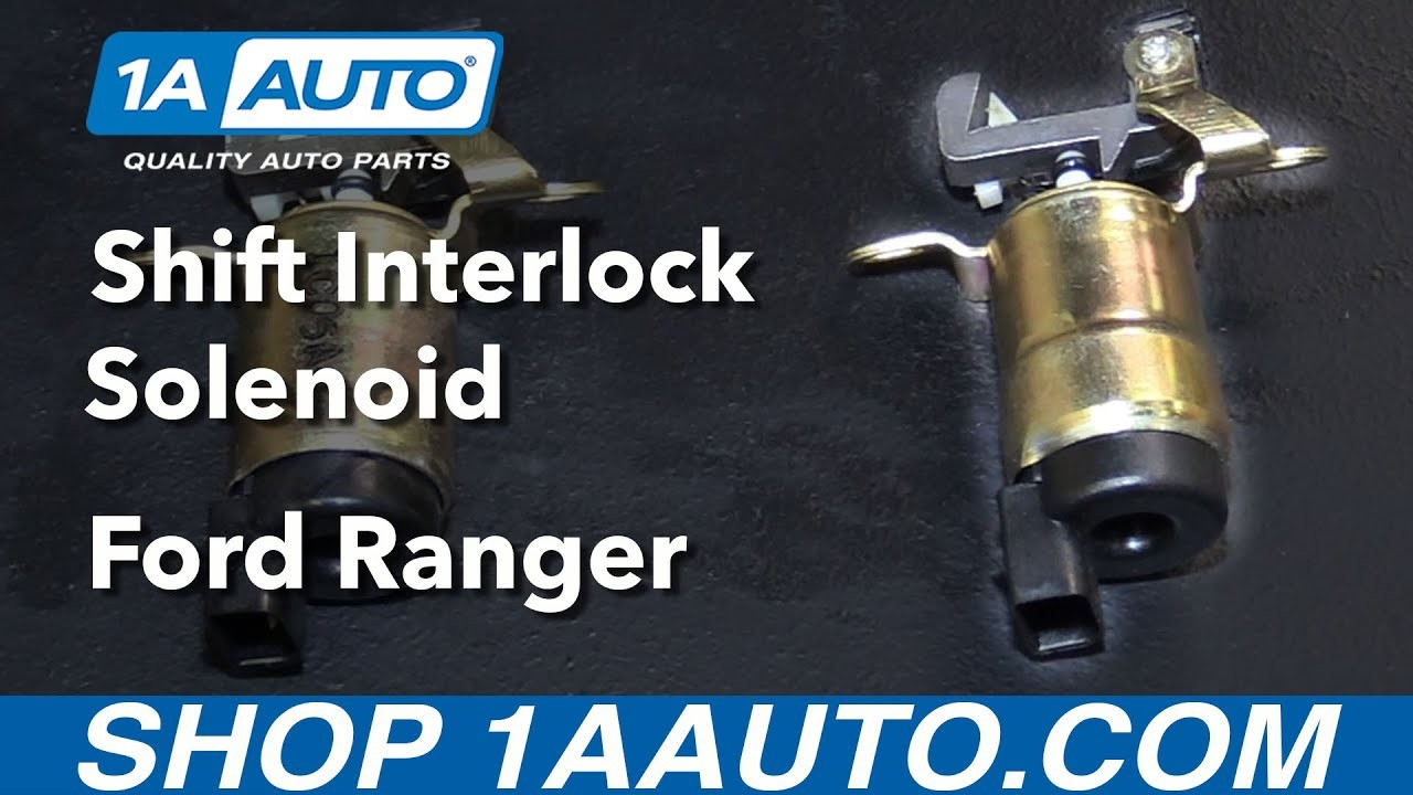 1995 ford Ranger Rear Brake assembly Diagram How to Install Replace Shift Interlock solenoid 1995 09 ford Ranger Of 1995 ford Ranger Rear Brake assembly Diagram