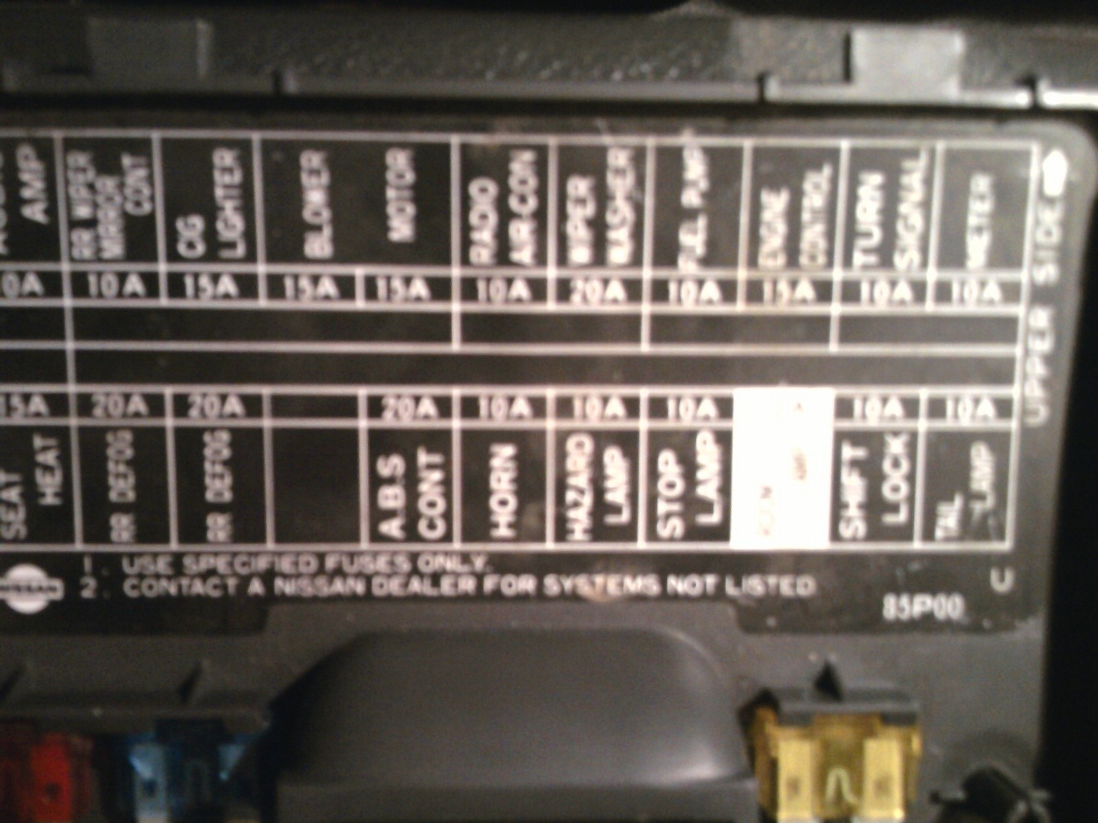 1997 Nissan Pickup Engine Diagram Nissan Pickup Questions where is the Fuse for the Hazard Lights On Of 1997 Nissan Pickup Engine Diagram