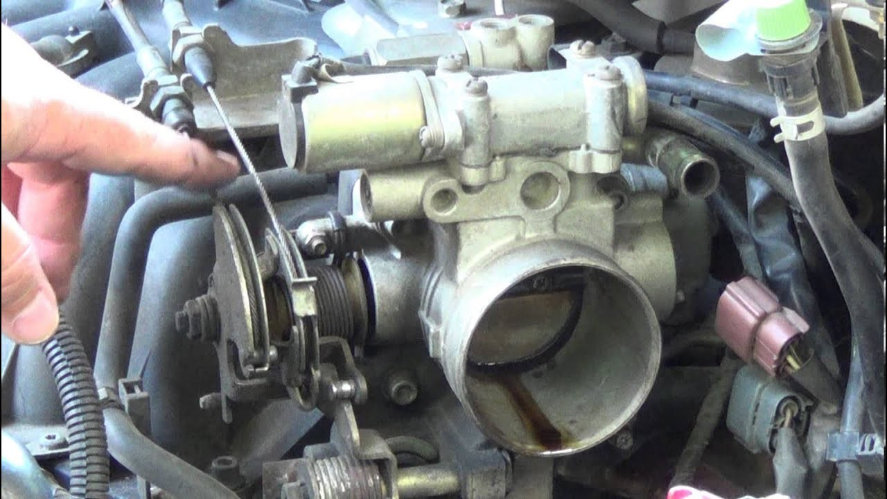 1999 nissan quest engine diagram how to fix a sticking accelerator cable  throttle body replace tps
