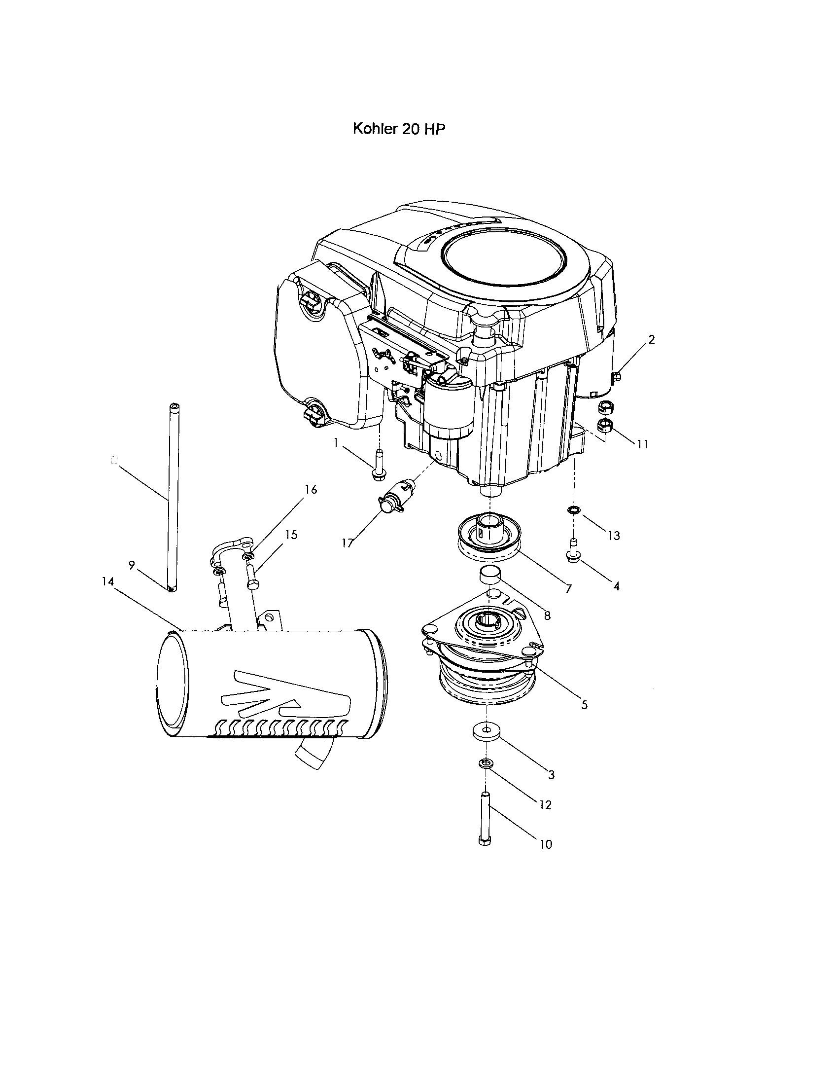 20 hp kohler engine diagram kohler engines cv20 kohler