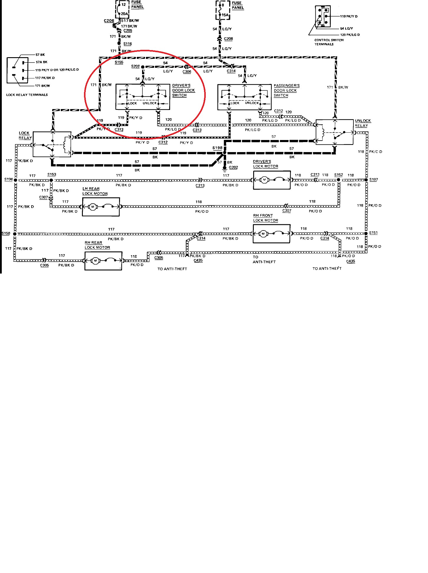 2000 Lincoln town Car Wiring Diagram Door Lock Switch Does Not Work Clock Neither they are Both Connected Of 2000 Lincoln town Car Wiring Diagram