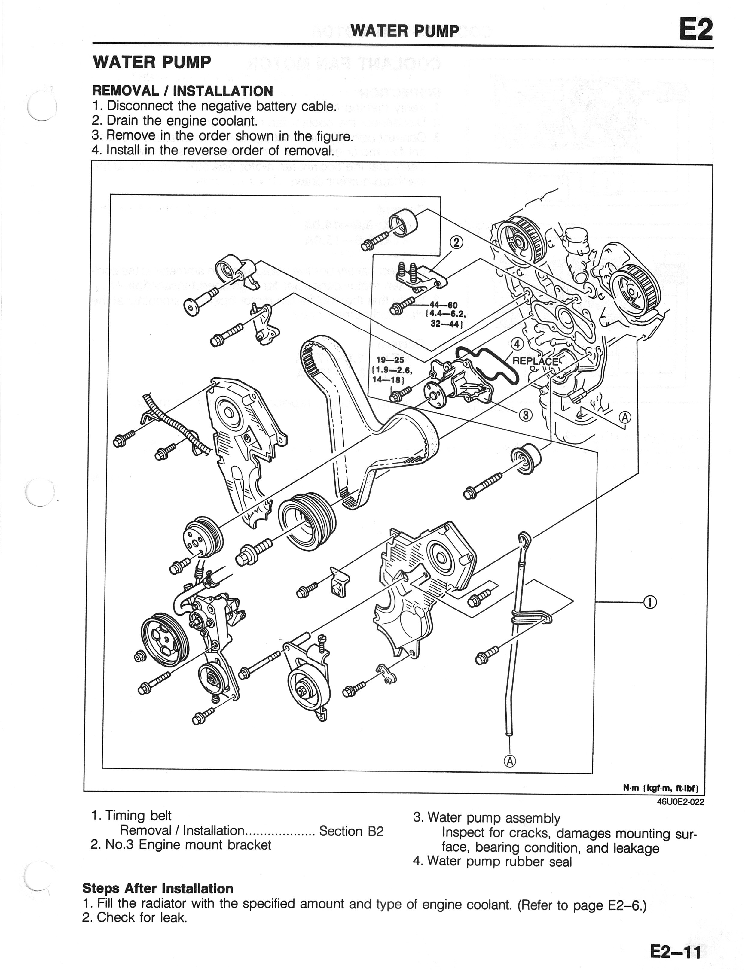 2001 Mazda Tribute V6 Engine Diagram is It the Water Pump 1993 2002 2 5l V6 Mazda626 forums Of 2001 Mazda Tribute V6 Engine Diagram