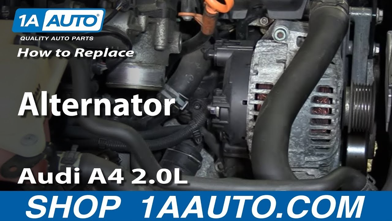2003 Audi A4 1 8 T Engine Diagram How to Install Replace Alternator 2002 08 Audi A4 2 0l Of 2003 Audi A4 1 8 T Engine Diagram