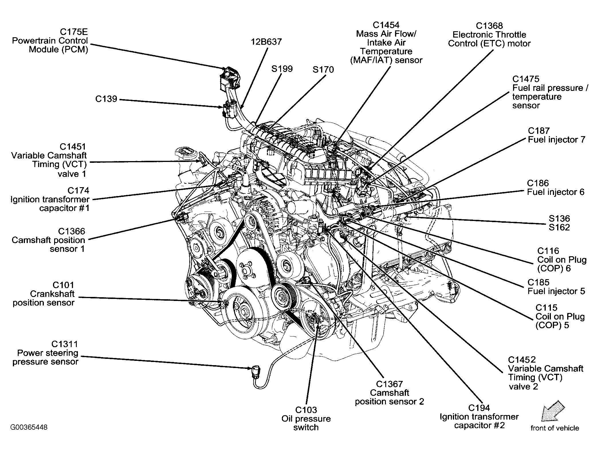 2009 ford escape engine diagram