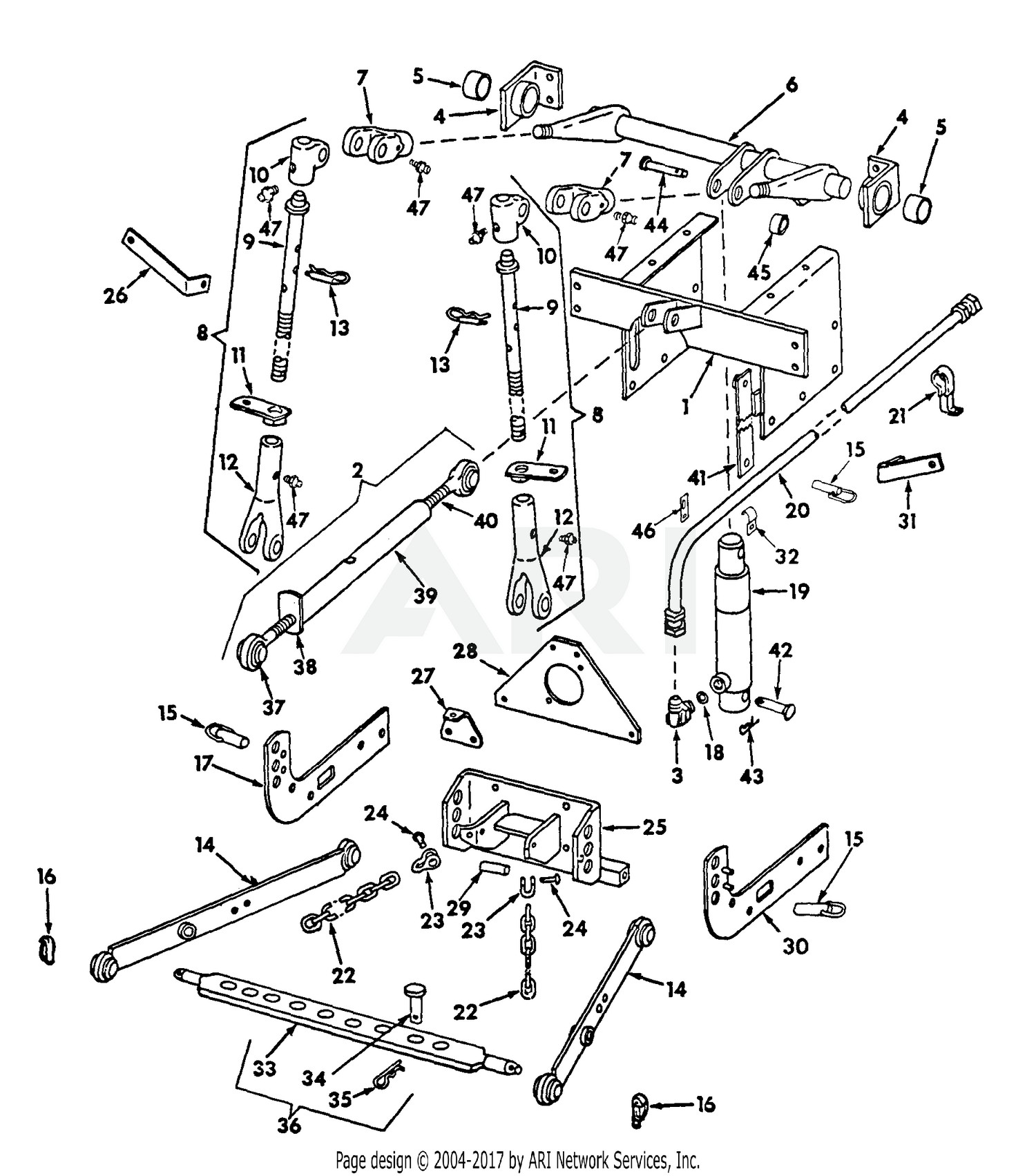 3 Point Hitch Parts Diagram Cub Cadet Parts Diagrams Cub Cadet 184 Tractor Three Point Hitch Of 3 Point Hitch Parts Diagram John Deere Parts Diagrams John Deere X465 Garden Tractor Pc9109
