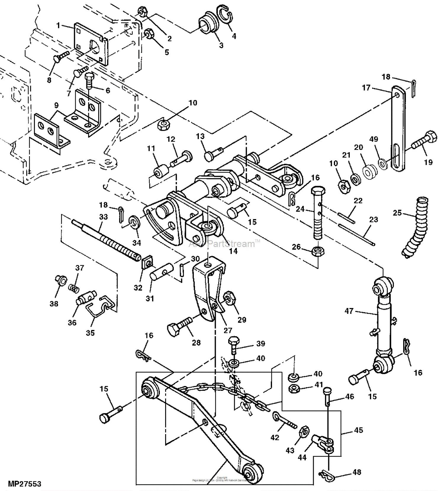 3 point hitch parts diagram