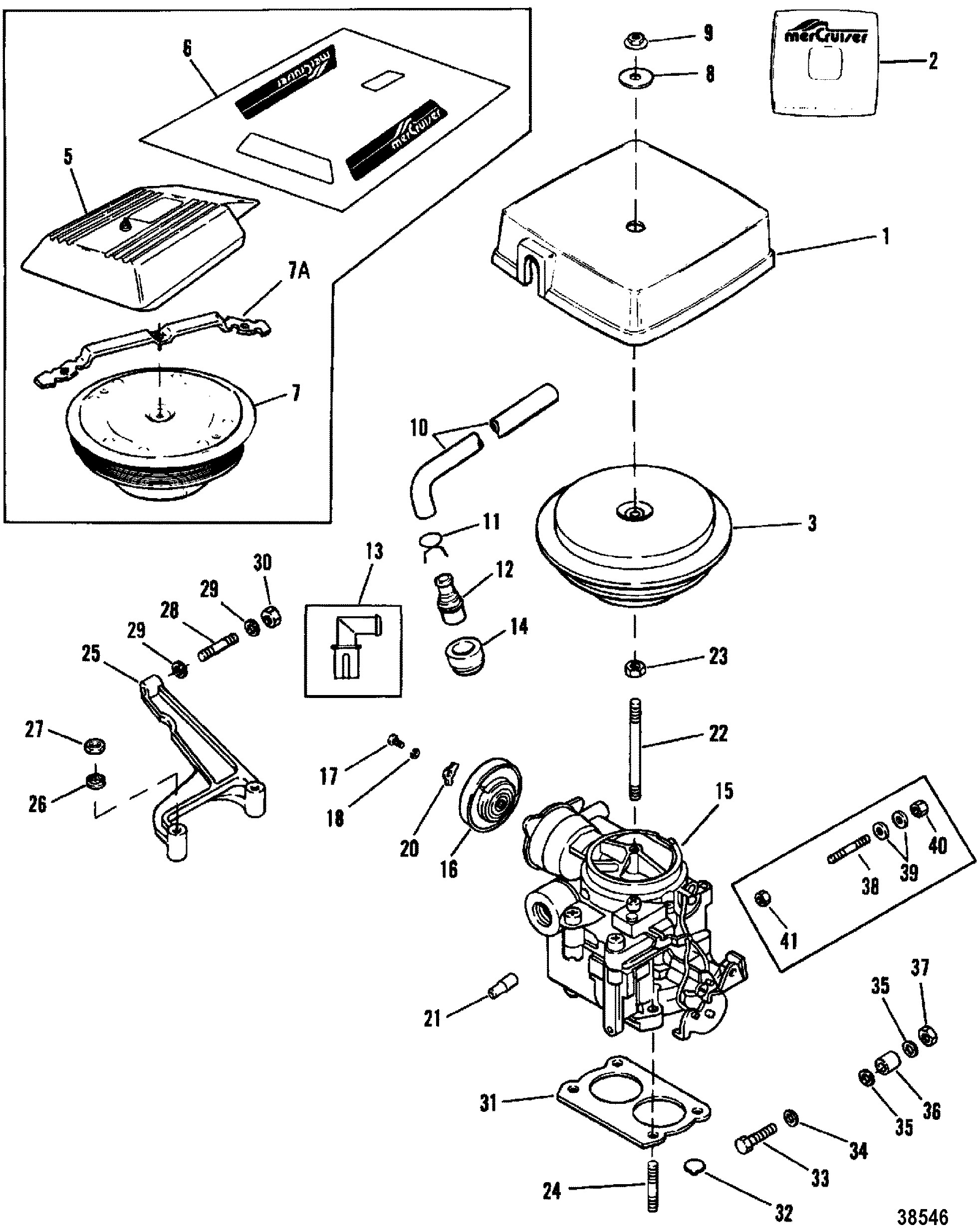 350 Mercruiser Engine Diagram Carburetor Throttle Linkage 2 Barrel for Mercruiser 200 5 0l Lx 260 Of 350 Mercruiser Engine Diagram КатаРог запчастей Mercruiser остаРьные 5 7l Mpi Mie Ec 1a Thru