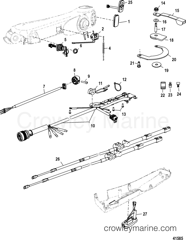 4 Stroke Engine Diagram Parts Big Tiller Handle Kit Ponents 40 60 Efi 4 Stroke Manual 2006 Of 4 Stroke Engine Diagram Parts