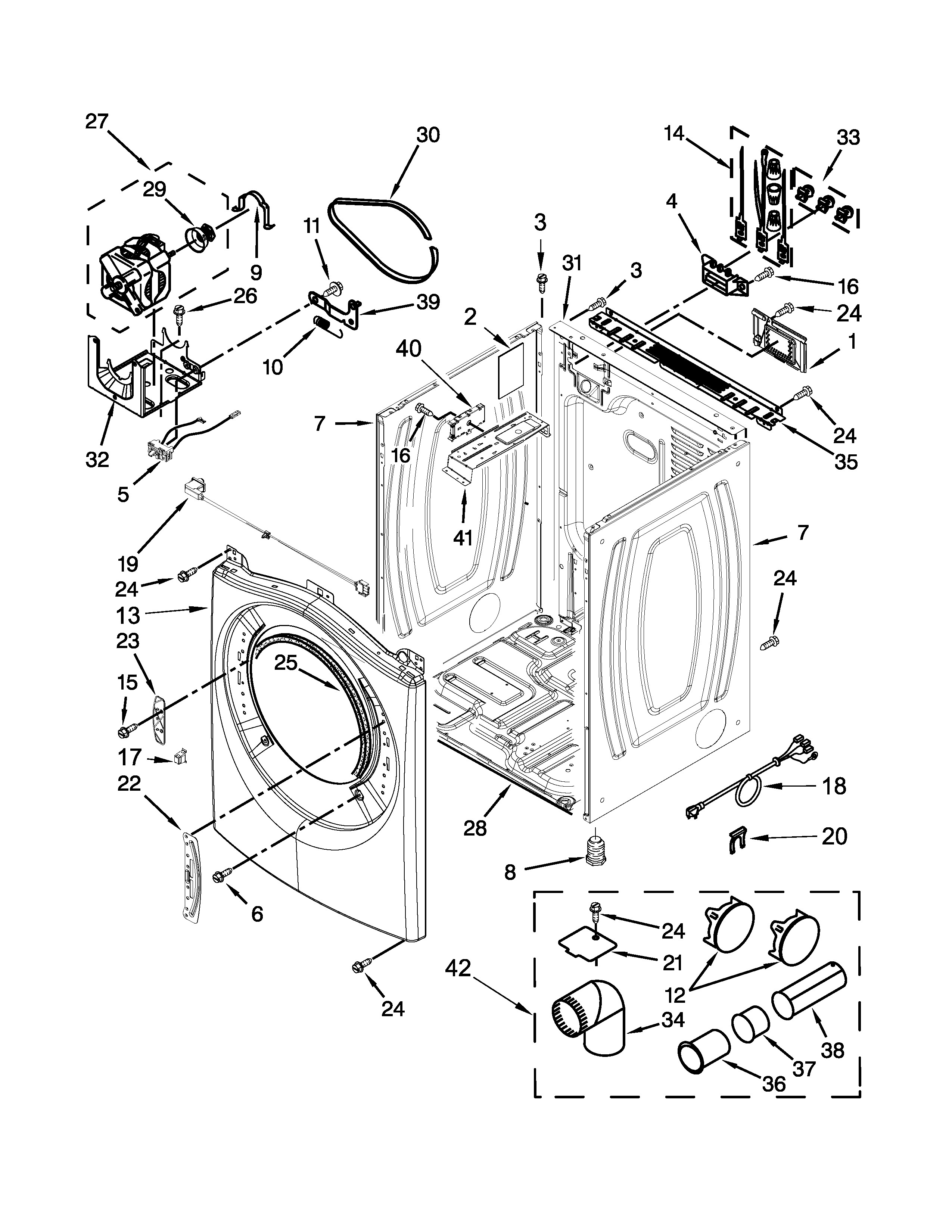 Amana Dryer Parts Diagram Amana Model Yned5800dw0 Residential Dryer Genuine Parts