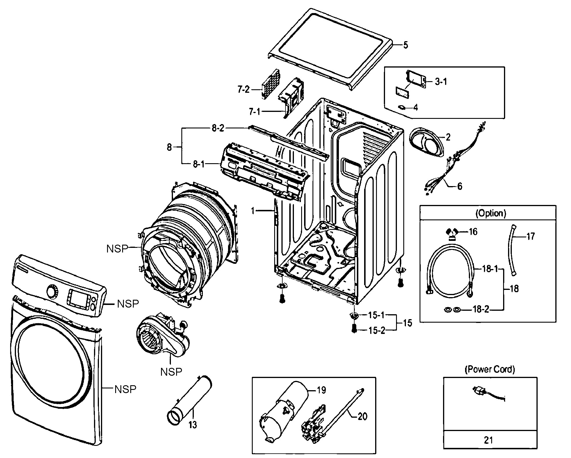 amana dryer parts diagram