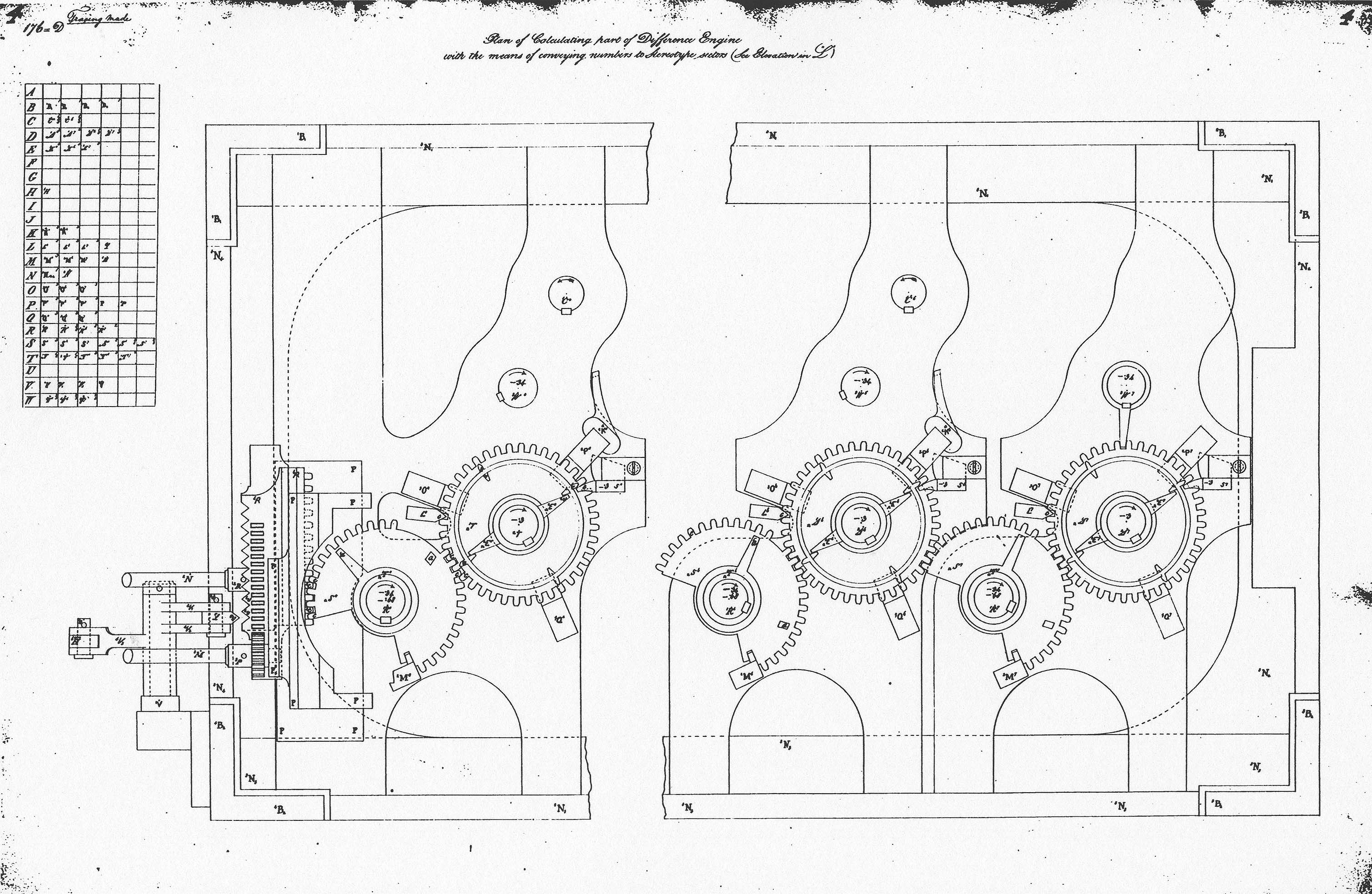 Babbage Analytical Engine Diagram