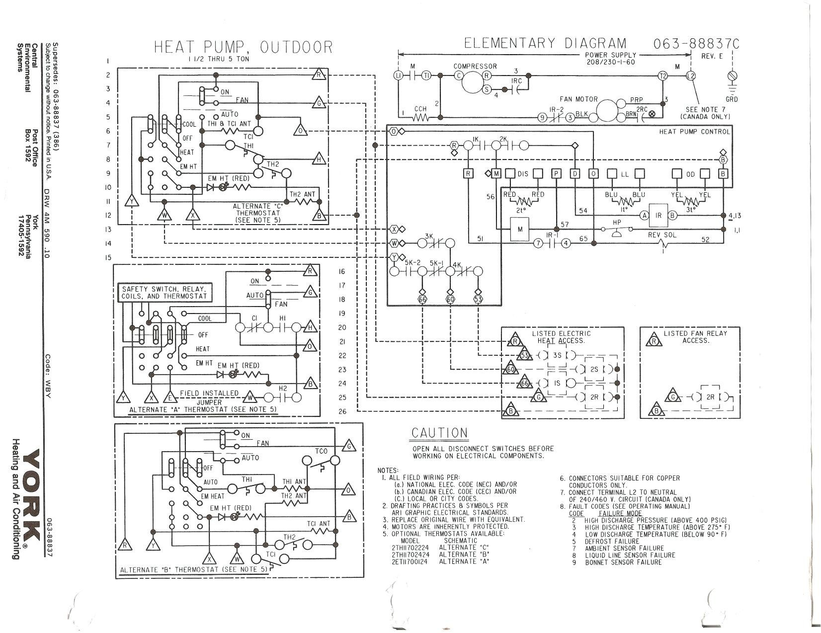 Bard Heat Pump Wiring Diagram Goodman Heat Pump Wiring Diagram Best thermostat for