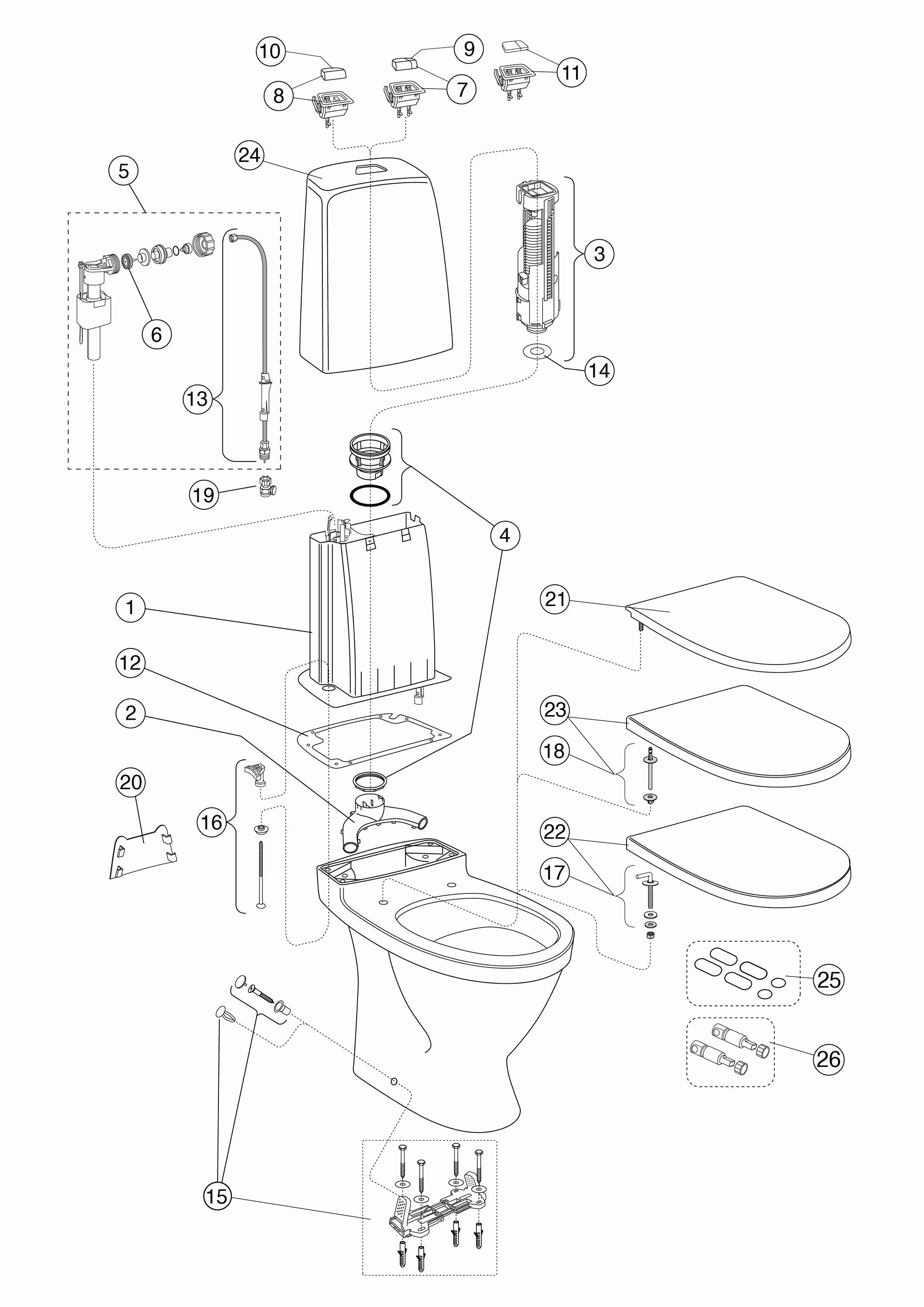 bathtub drain parts diagram