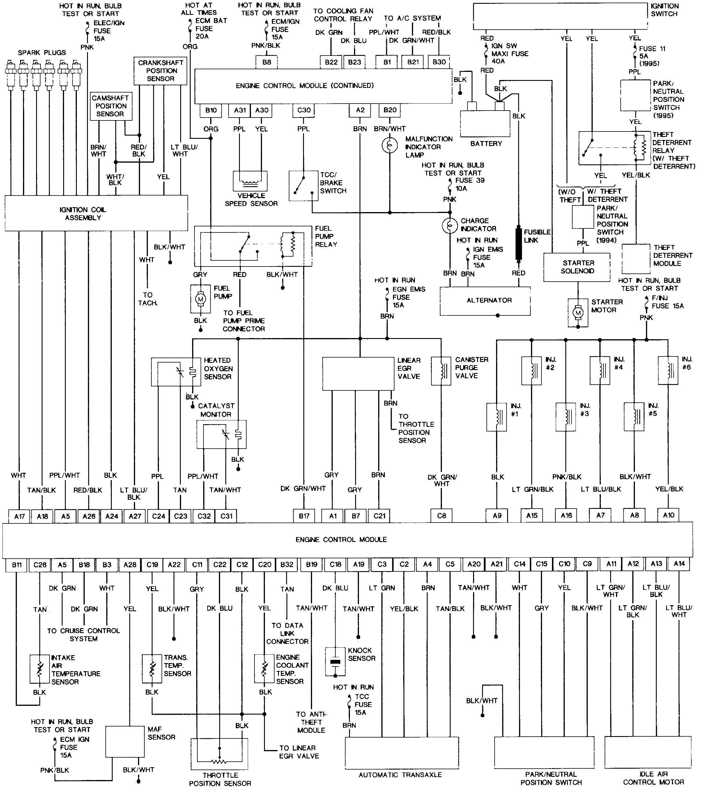 buick rendezvous engine diagram