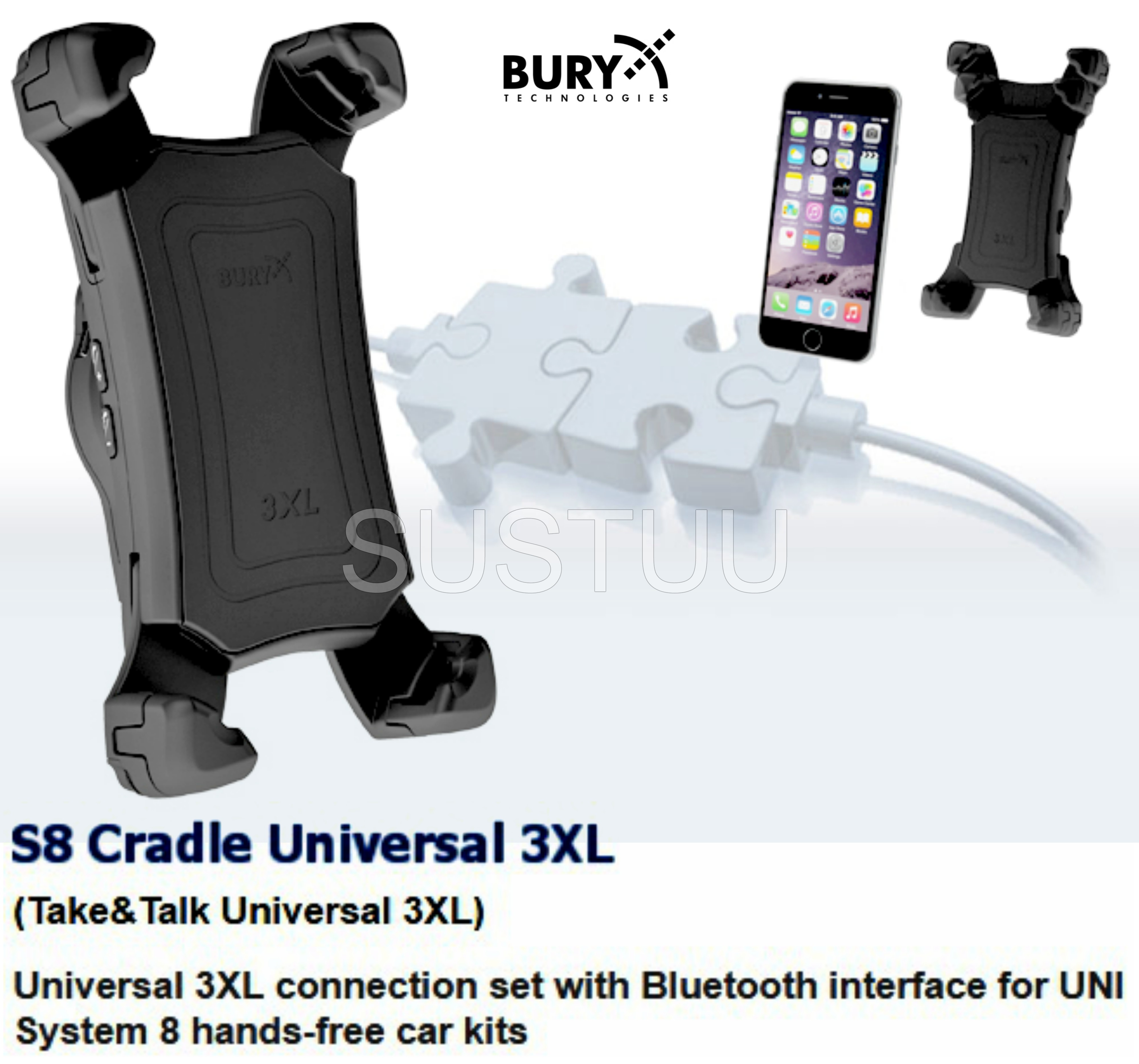 Bury Car Kit Wiring Diagram Bury Universal 3xl Swivel Mount with Bluetooth Interface & Hands Of Bury Car Kit Wiring Diagram