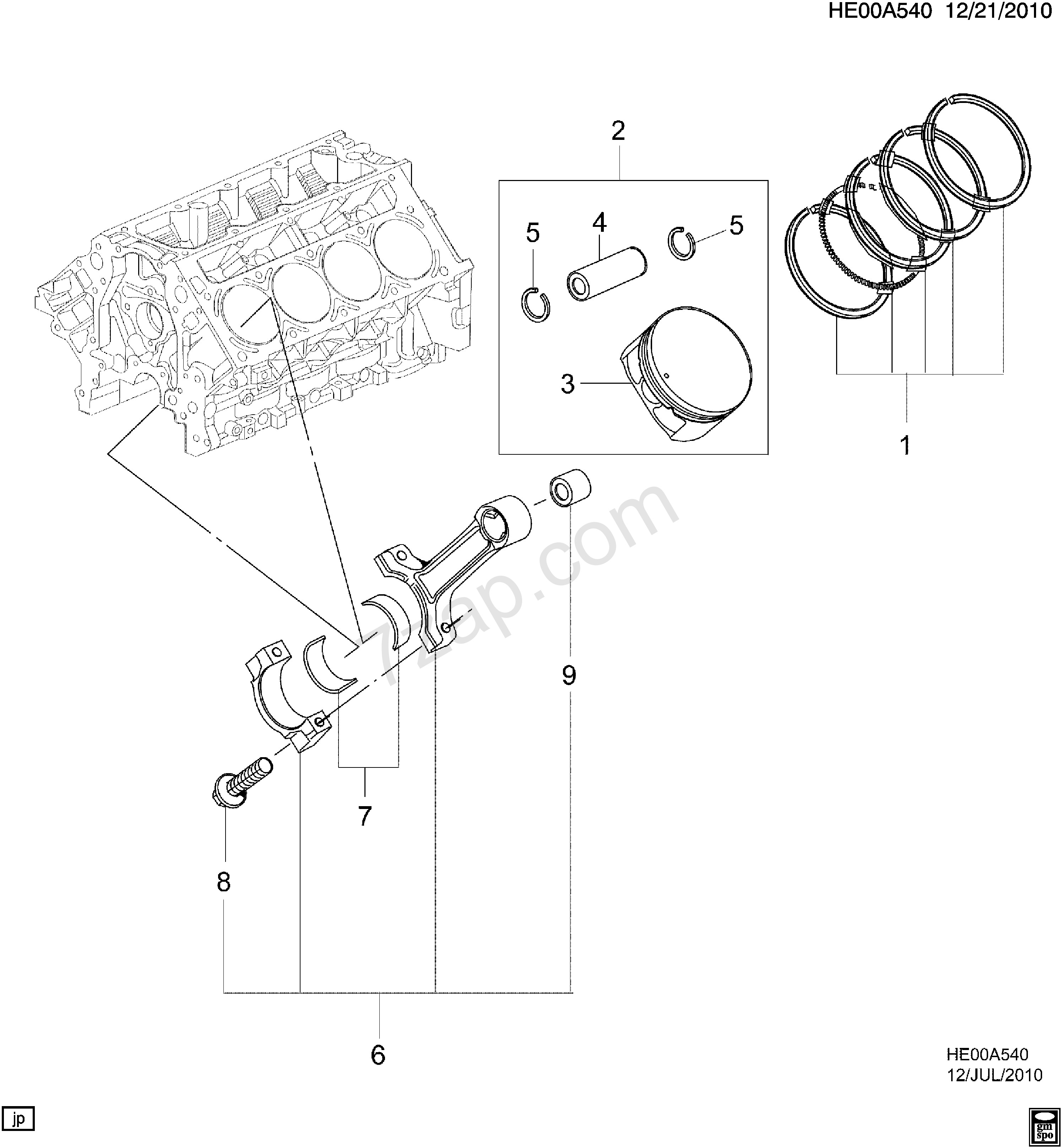 car engine diagram piston subaru oem 04 14 impreza engine