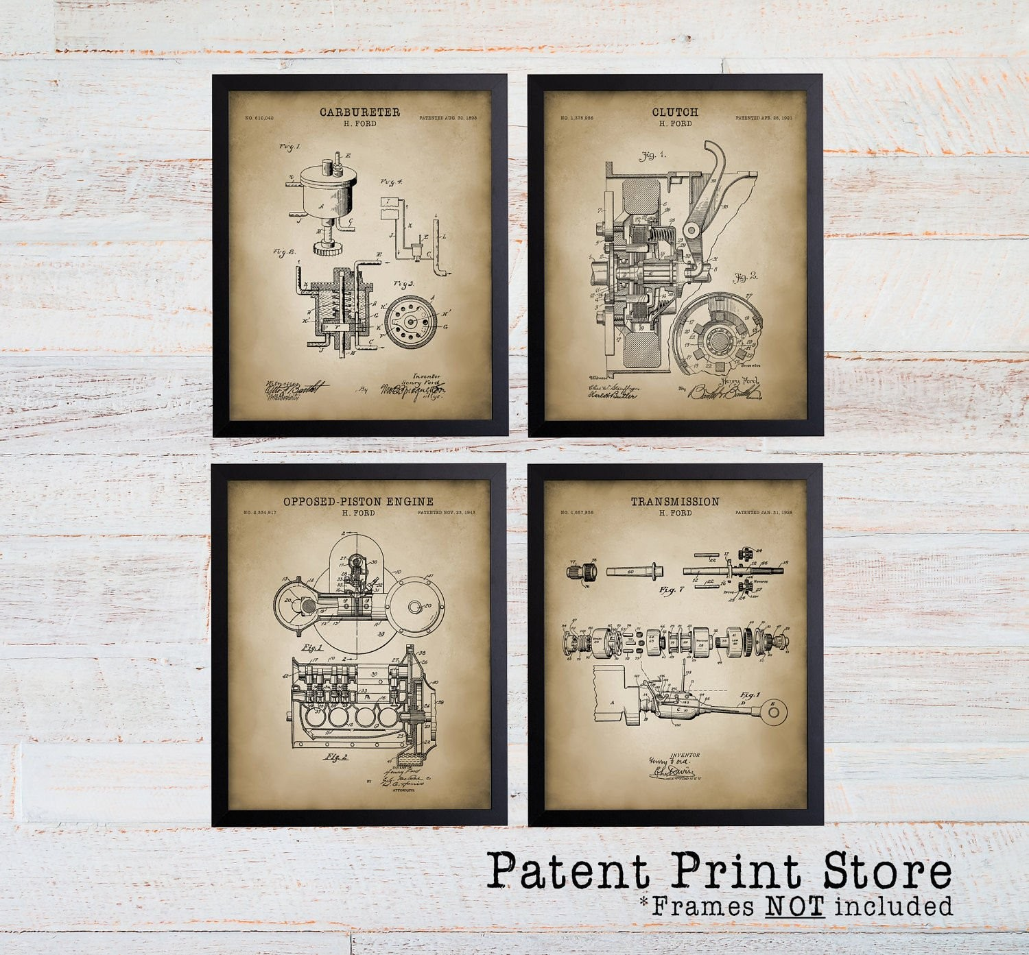 Car Engine Diagram Poster ford Patent Prints Henry ford Patent Man Cave Art Mancave ford Of Car Engine Diagram Poster