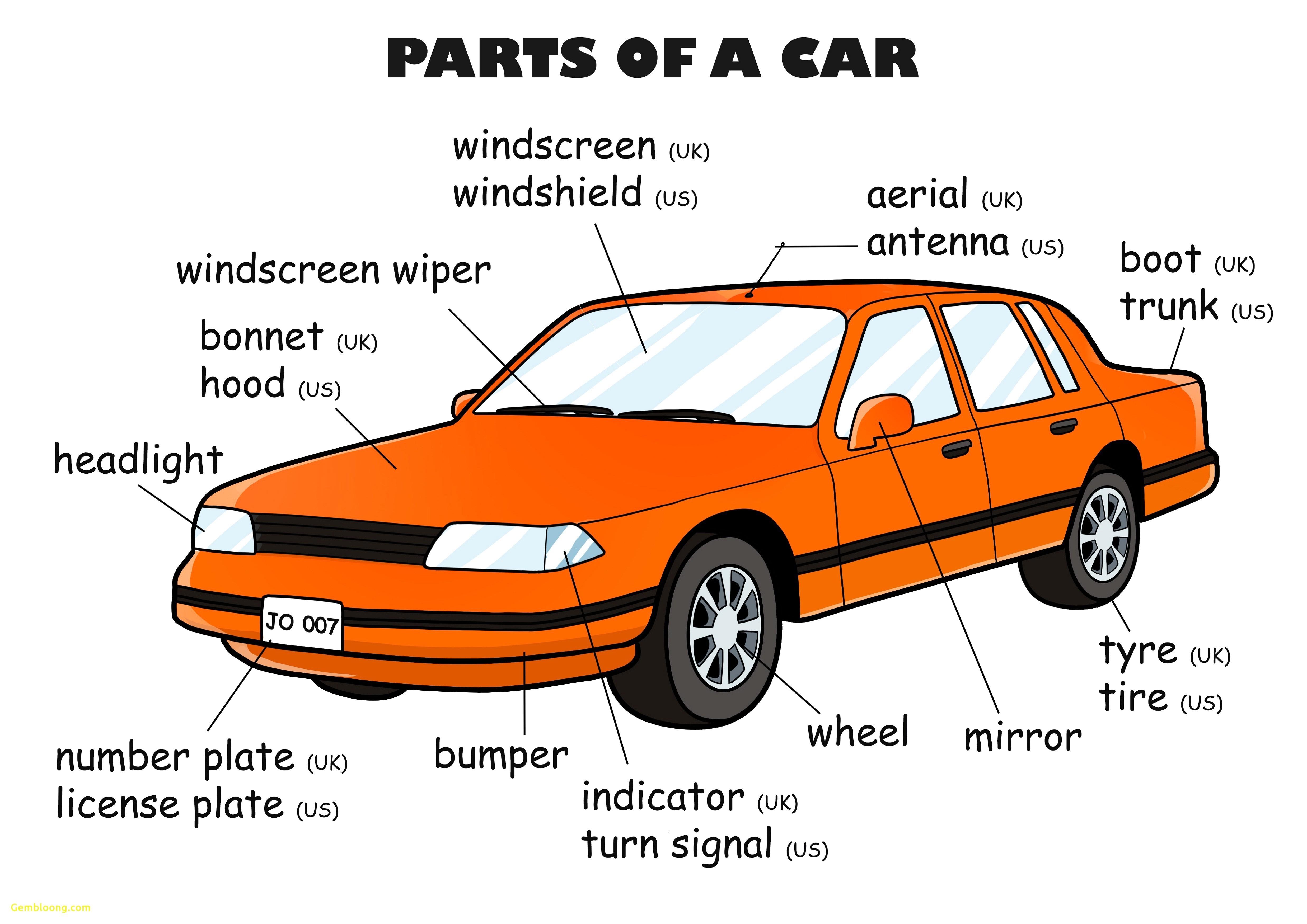 Car Exterior Parts Diagram