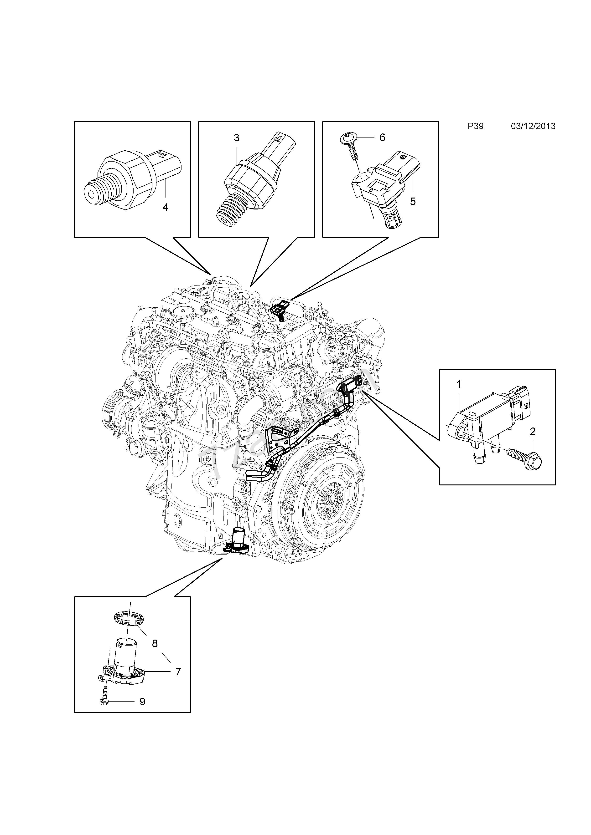 Car Powertrain Diagram Powertrain Sensors and Engine Control Module [oil Pressure Switch Of Car Powertrain Diagram