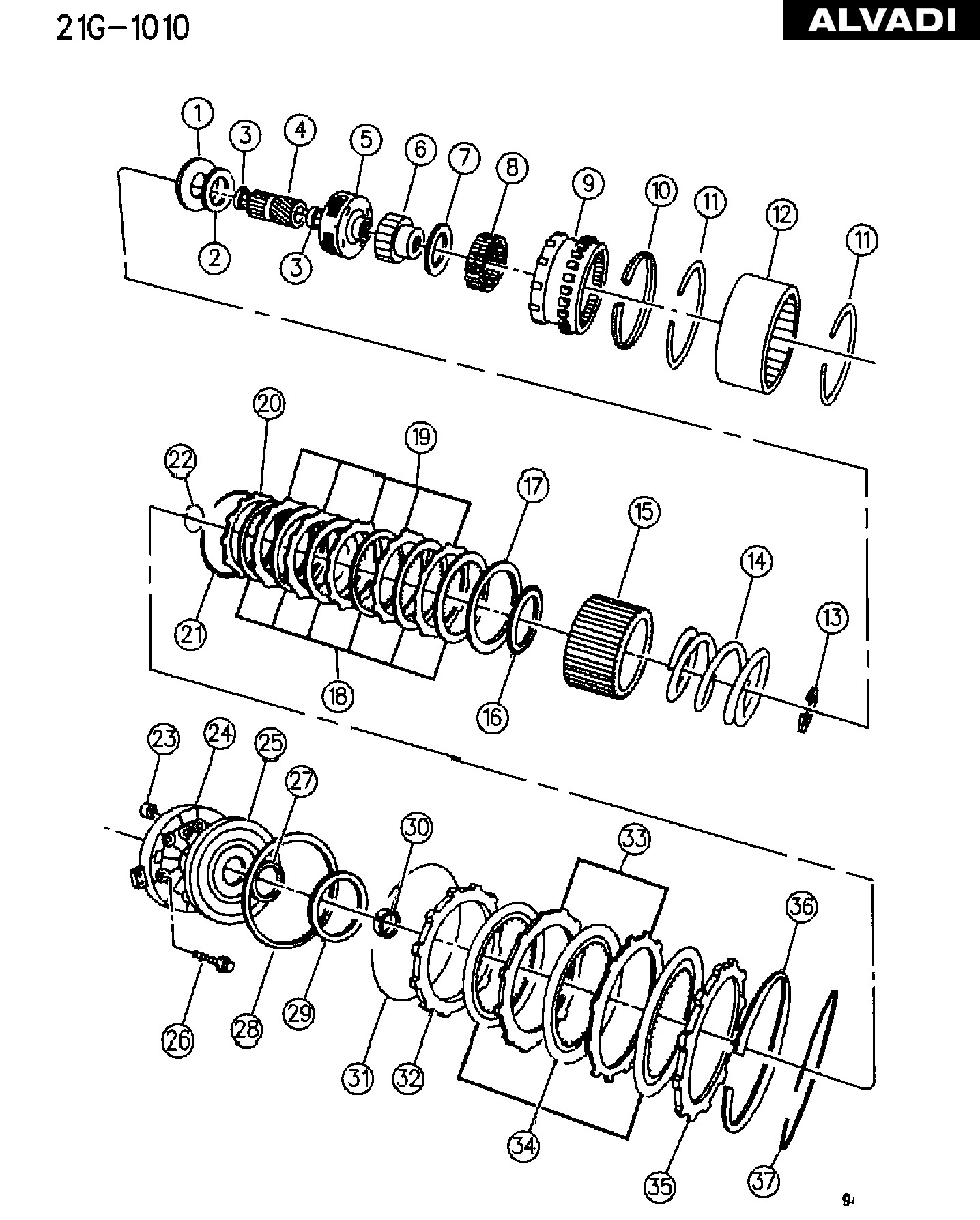 Clutch Diagram for A Manual Transmission Ram Clutch Overdrive with Gear Train Automatic Transmission 4