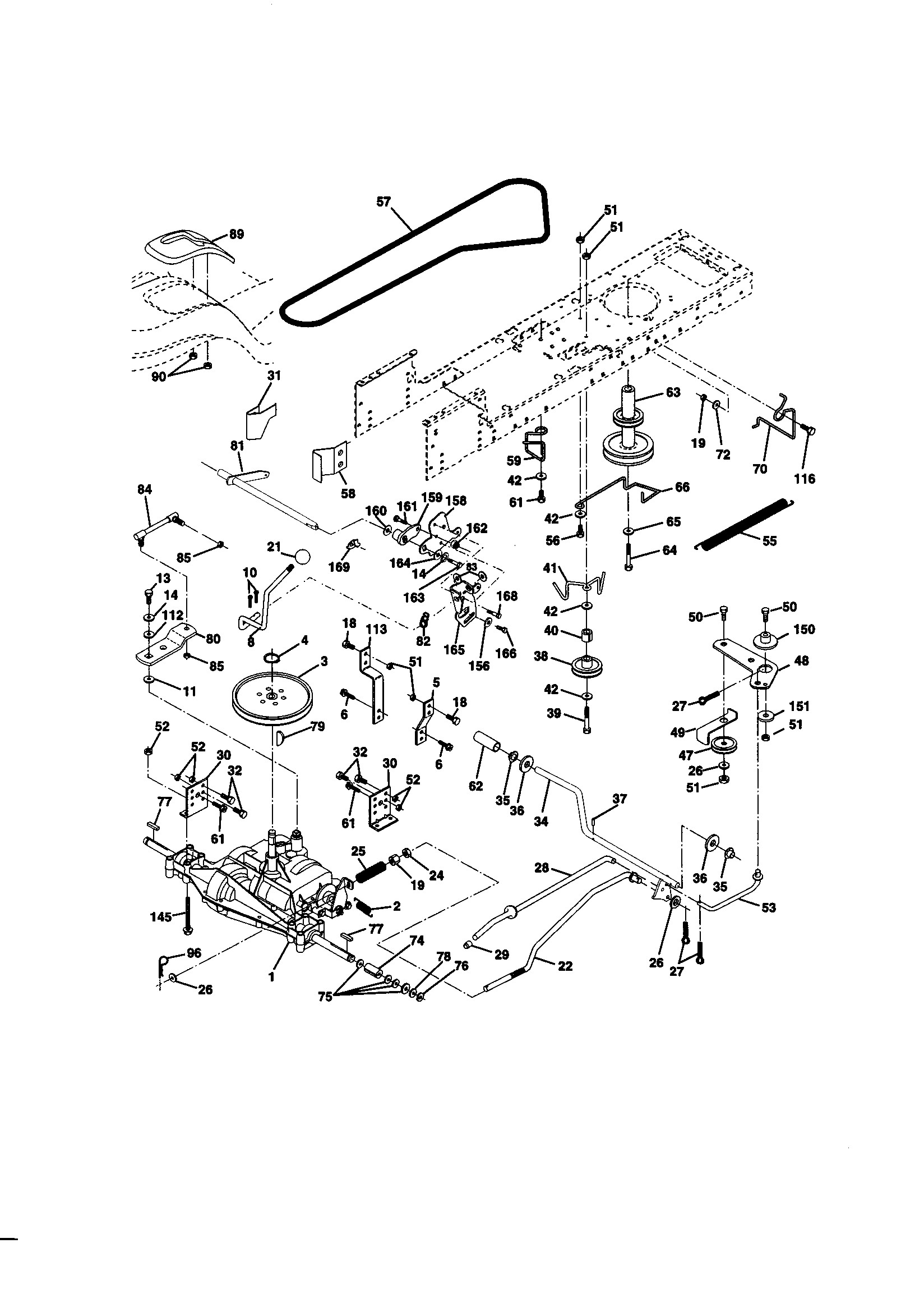 Craftsman Lawn Mower Engine Parts Diagram Craftsman 19 5 Hp Electric Start 42 Lawn Tractor Parts Of Craftsman Lawn Mower Engine Parts Diagram