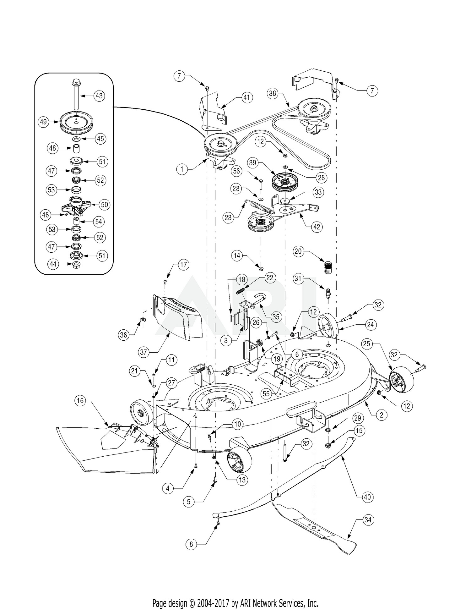 Cub Cadet Lt1042 Mower Deck Diagram Electrical Wiring For Ltx 1042 Parts My