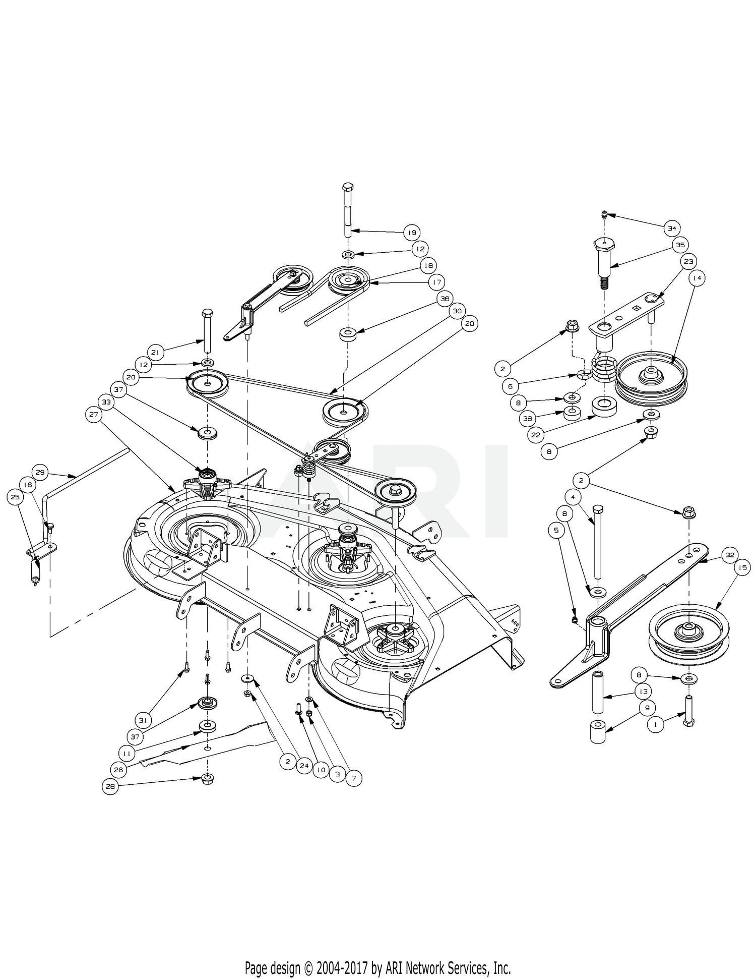 cub cadet zero turn parts diagram