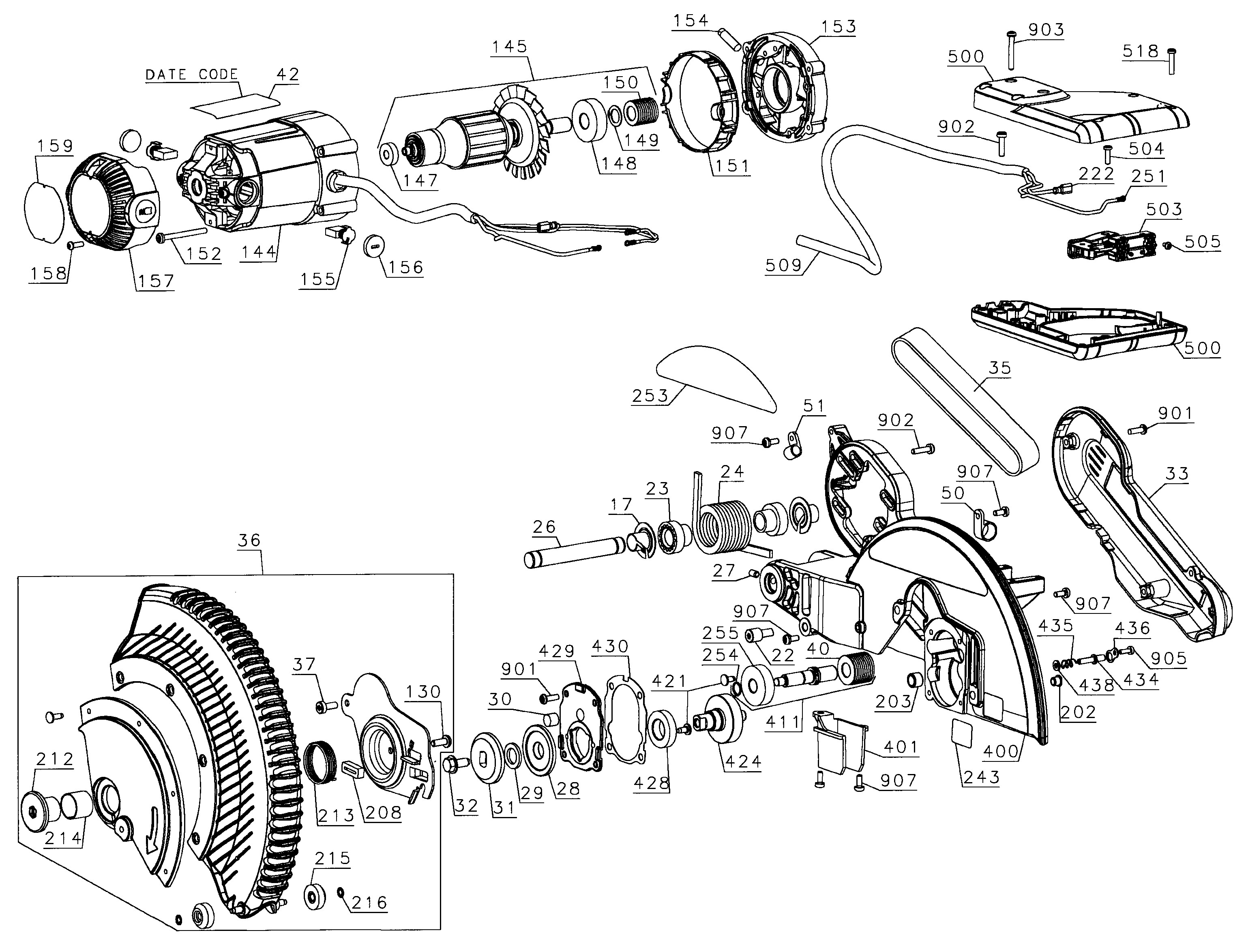 Dewalt Miter Saw Parts Diagram