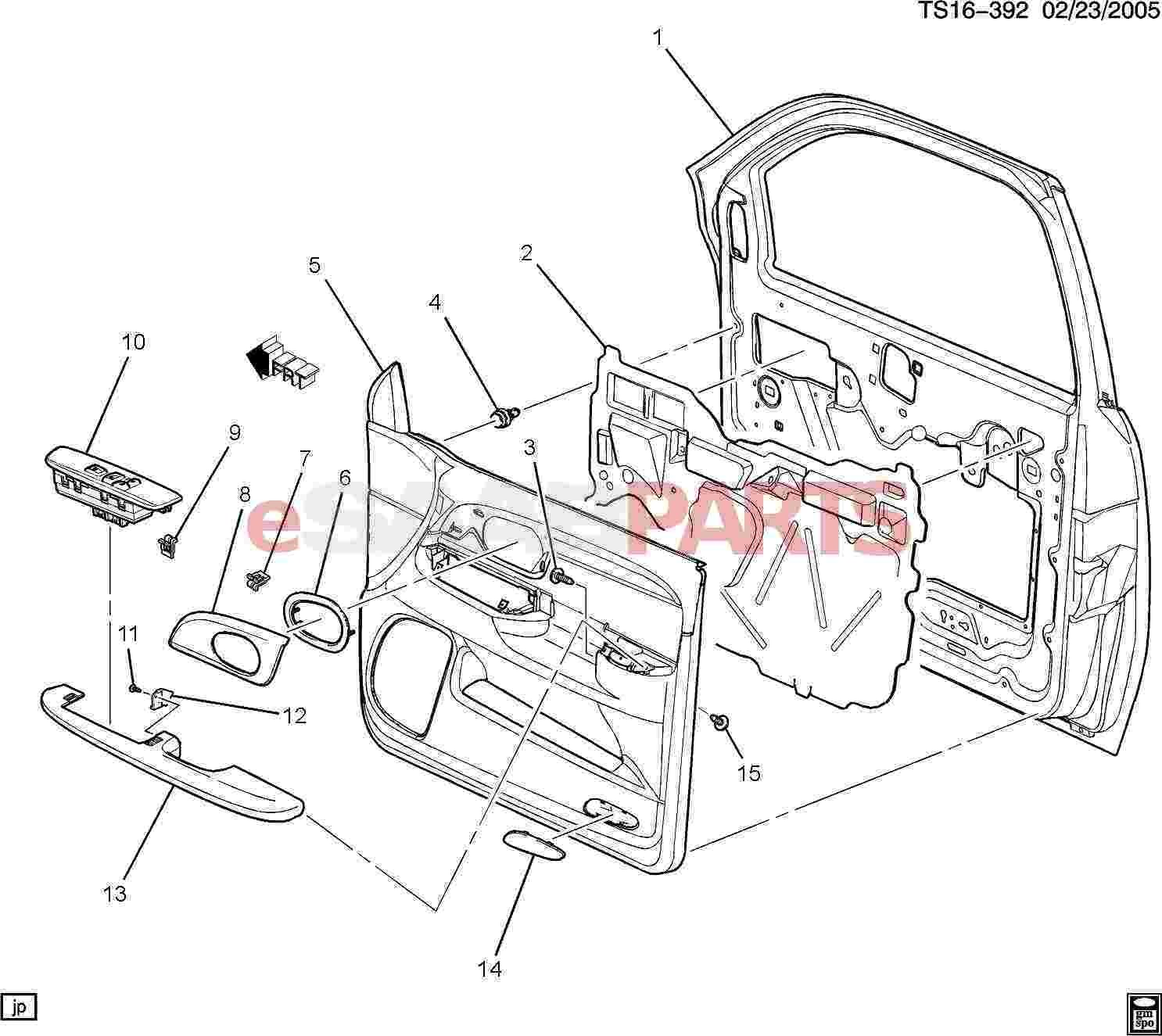 Diagram Of Car Body Parts Esaabparts Saab 9 7x Car Body Internal Parts Door Parts