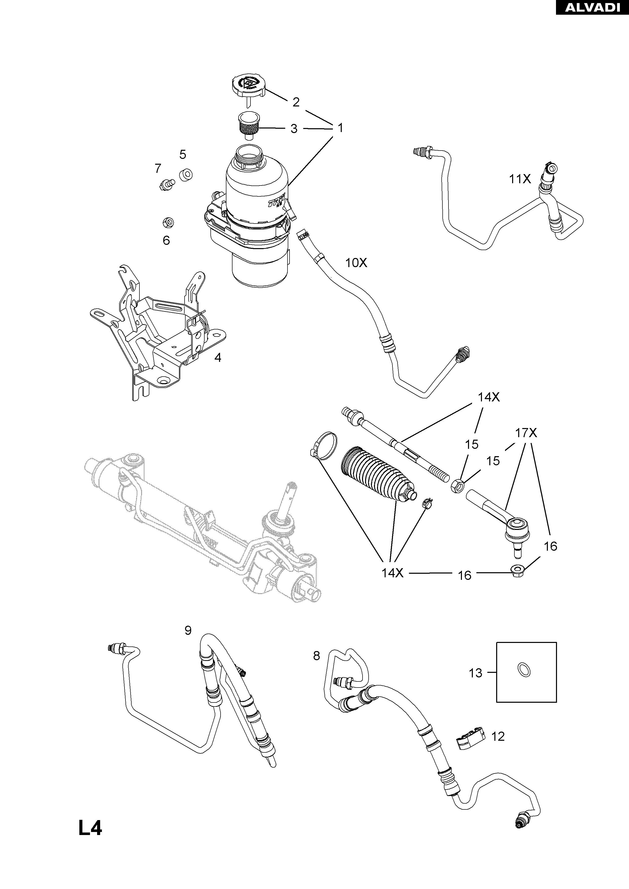 Diagram Of Power Steering System Opel Power Steering Pump Of Diagram Of Power Steering System Billet Specialties Power Steering Pump