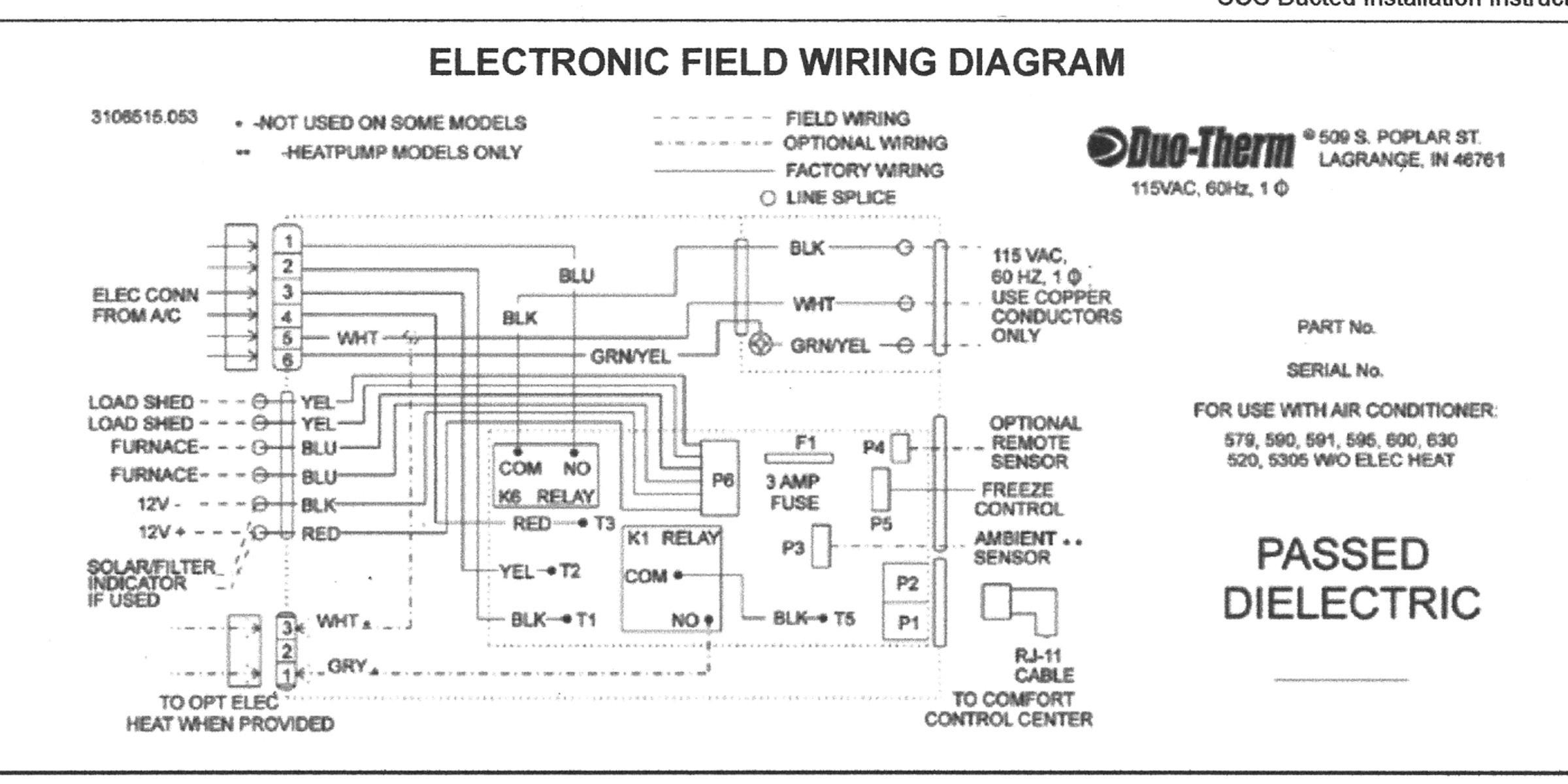 Dometic thermostat Wiring Diagram Wiring Diagram for Ge ... on