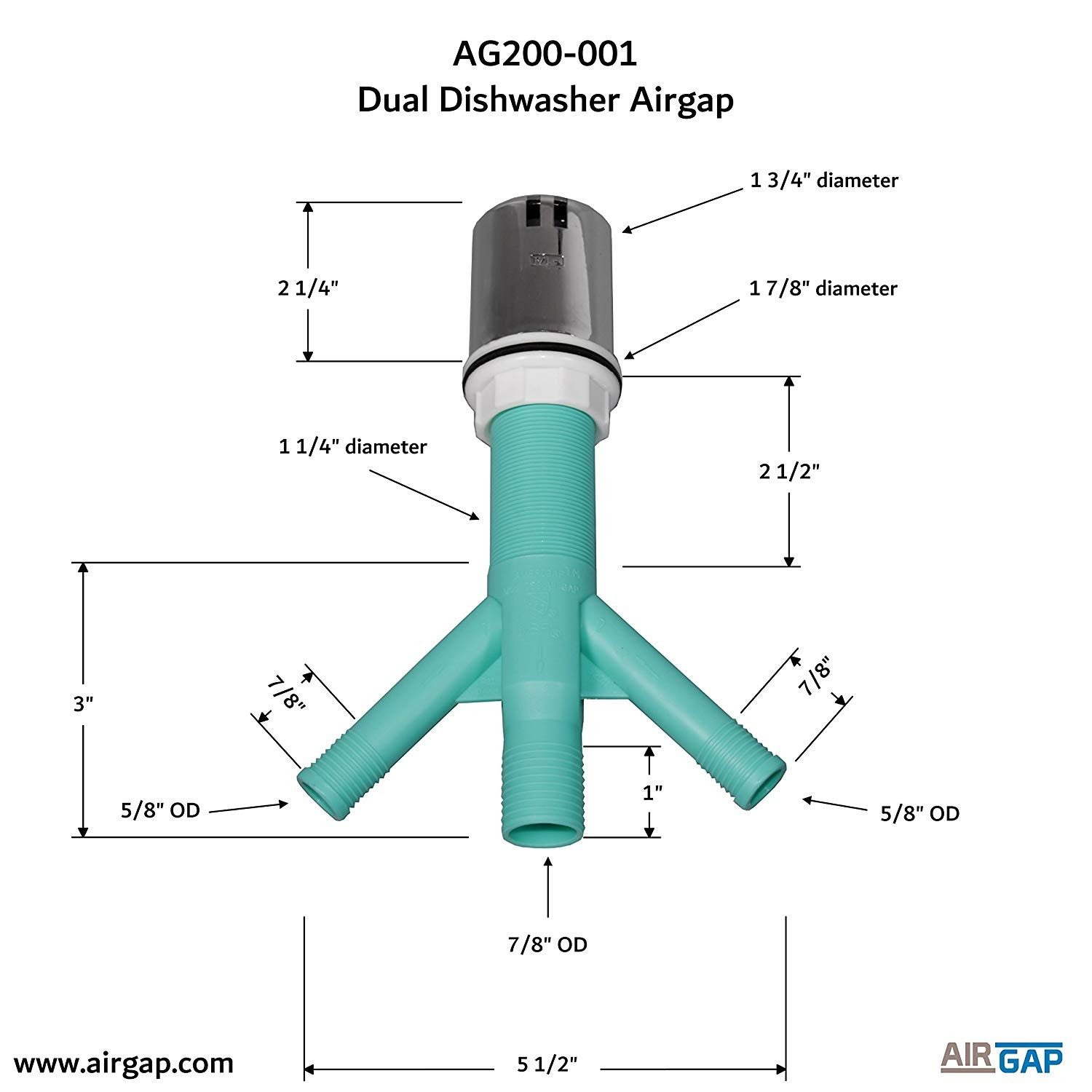 Dual Air Brake System Diagram Amazon Amerigap T52 Extra Long Thread Air Gap with Twin Inlet Of Dual Air Brake System Diagram