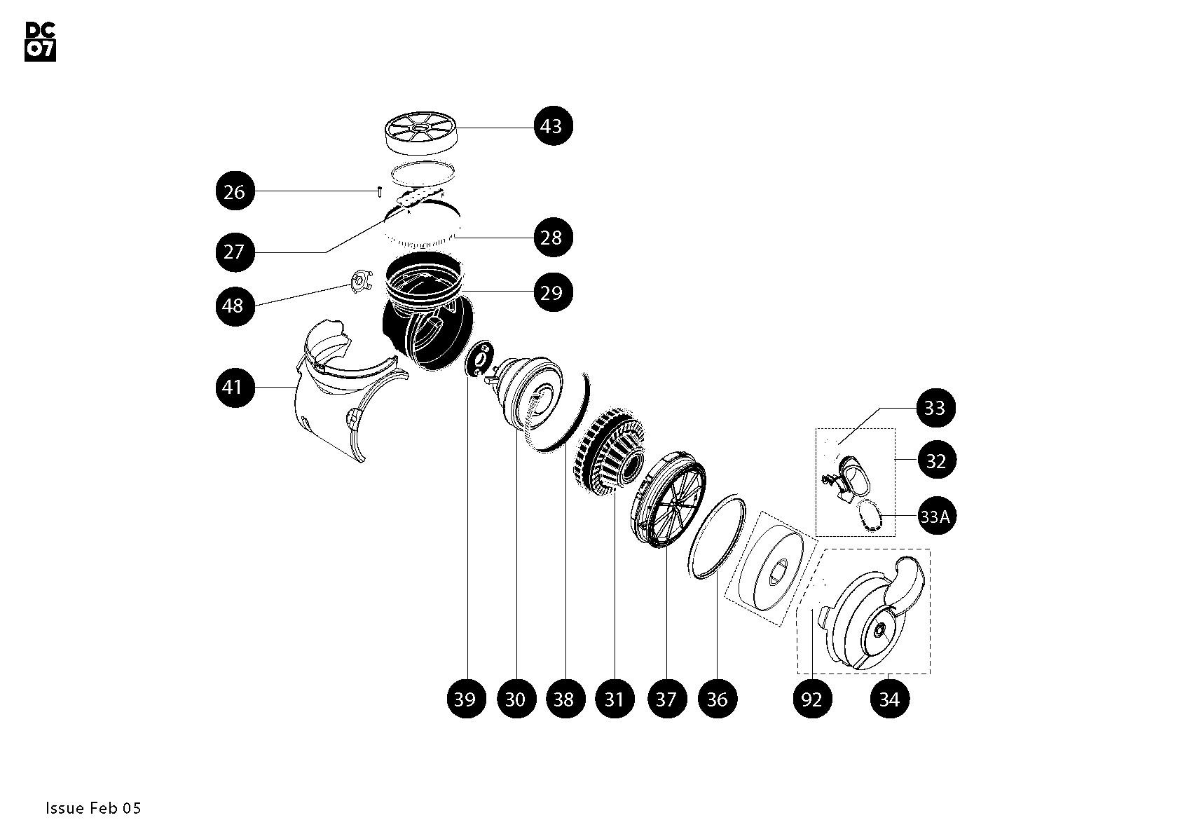 dyson dc14 parts diagram amazon think crucial replacement