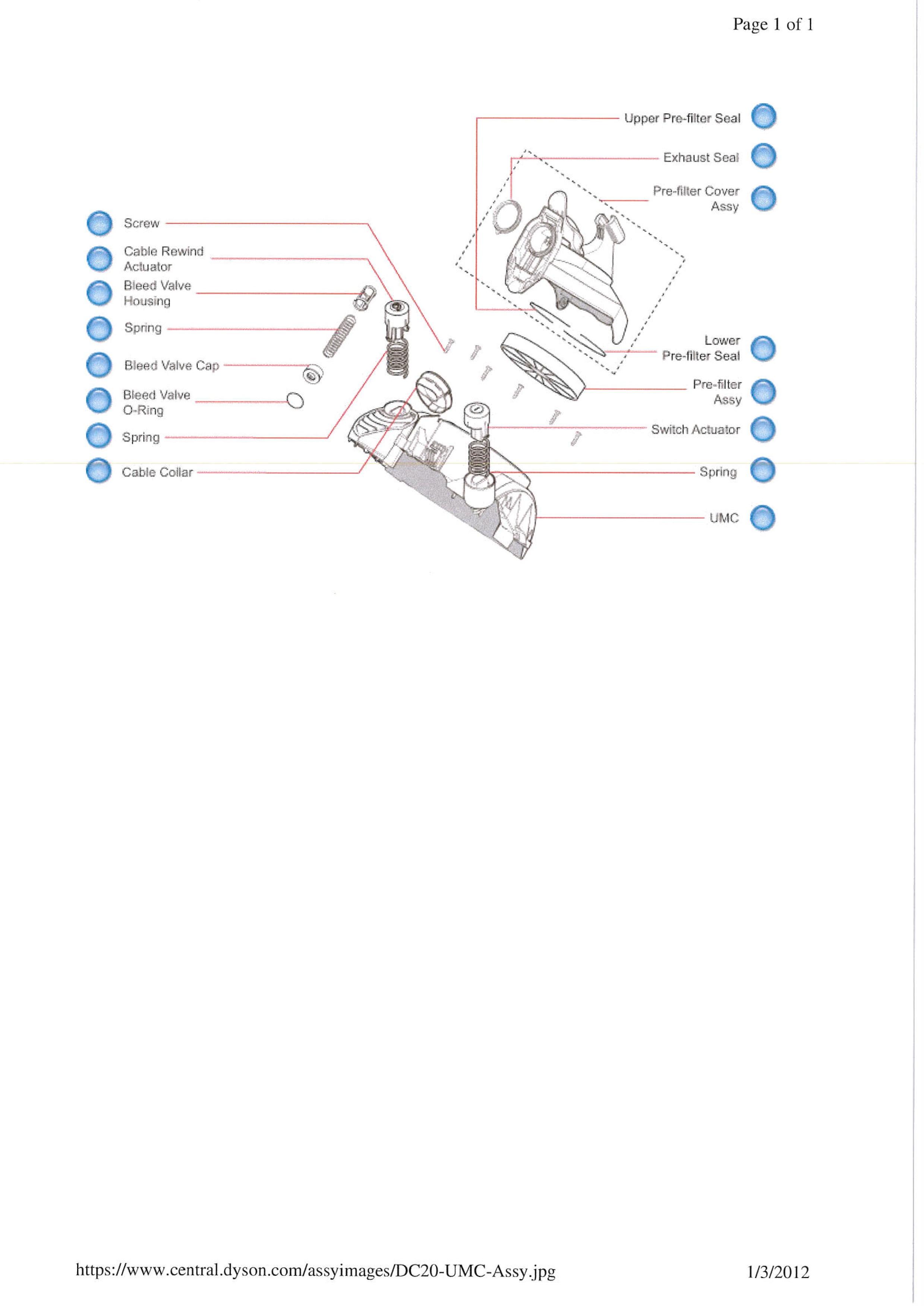 Dyson Dc24 Parts Diagram Explosionszeichnung Für Ihren Dyson Dc20 Of Dyson Dc24 Parts Diagram