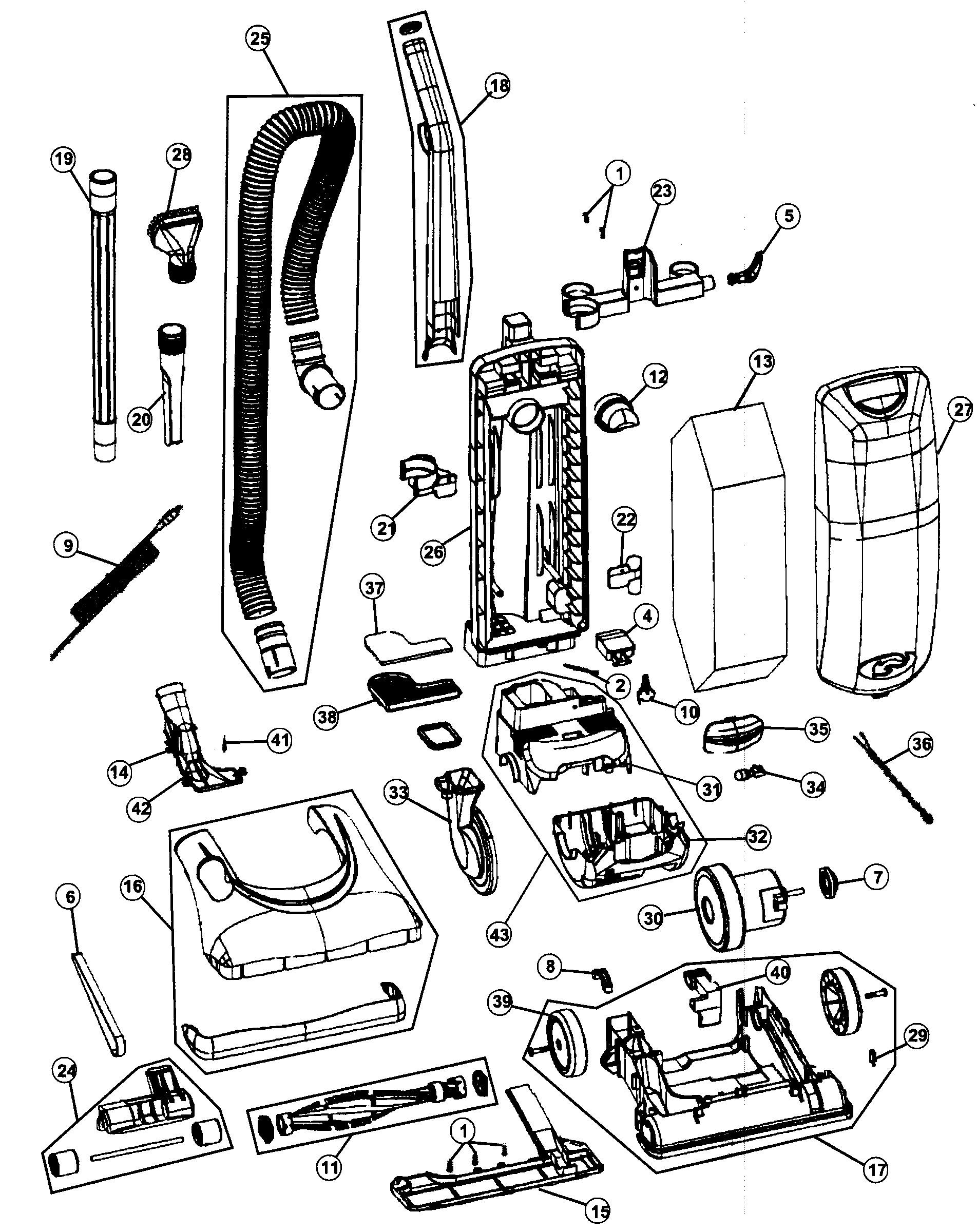 Dyson Dc24 Parts Diagram Vacuum Vacuum Parts Of Dyson Dc24 Parts Diagram